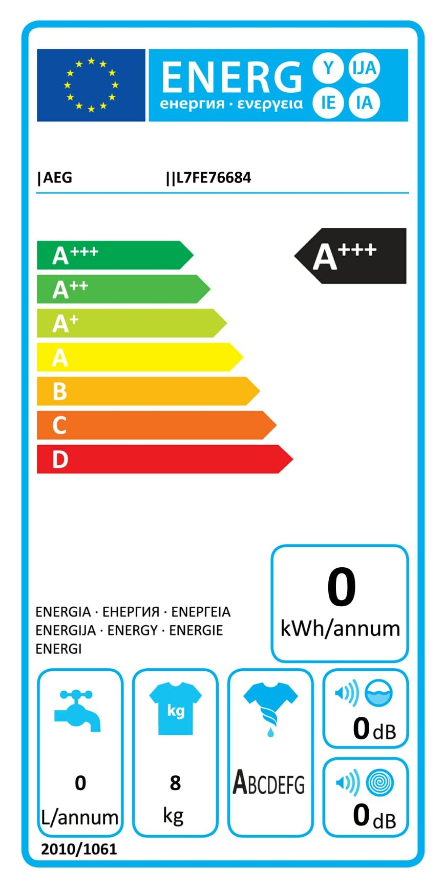 AEG-Waschmaschine-FrontladerEnergieklasse-A