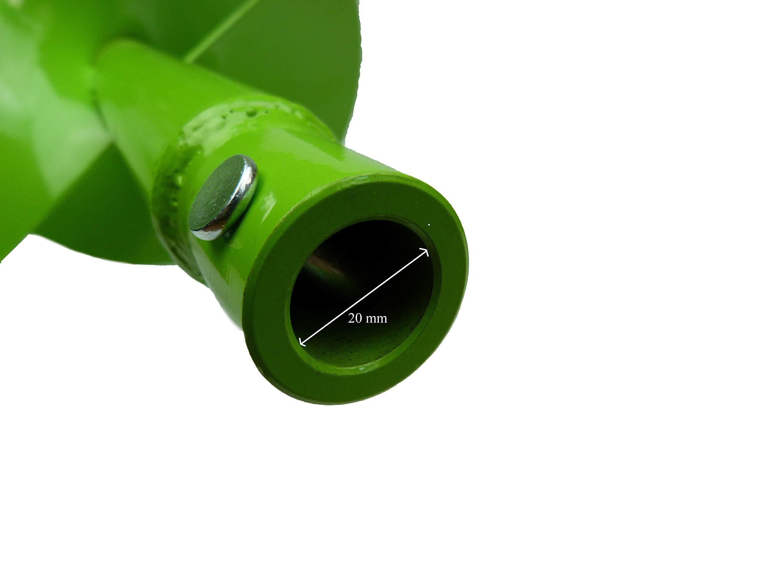 WERHE-Profi-Bohrer-fr-Erdbohrer-60-mm-Pfahlbohrer-Brunnenbohrer-przise-Bohrspitze-Doppelspiral-Hartmetall-eco-Farbe-mit-Hex-Adapter