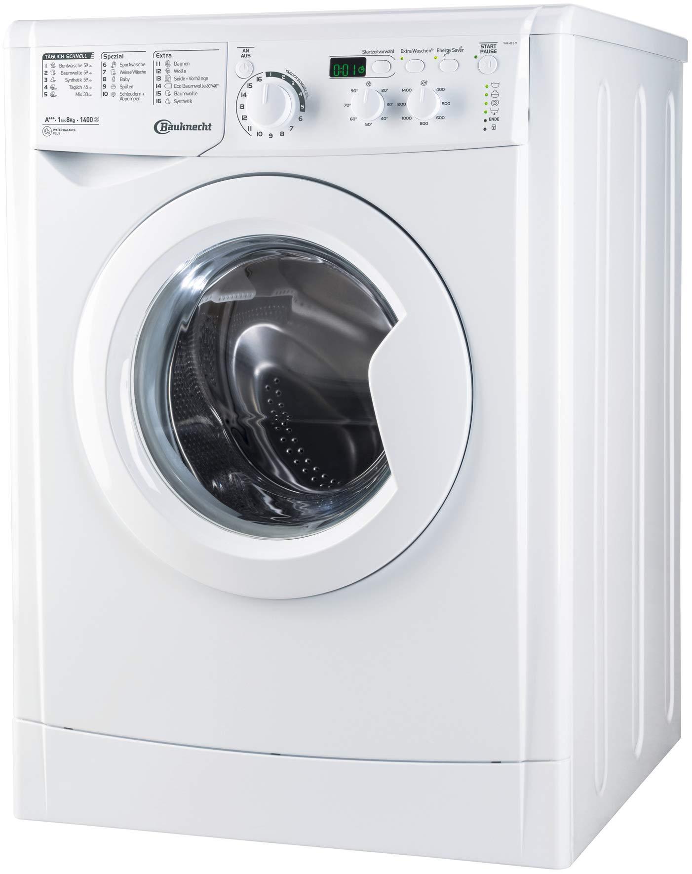 Bauknecht-WM-MT-8-IV-Waschmaschine-Frontlader-unterbaufhigA-8-kg-1400-UpMProSilent-Inverter-MotorStartzeitvorwahlMengenautomatik
