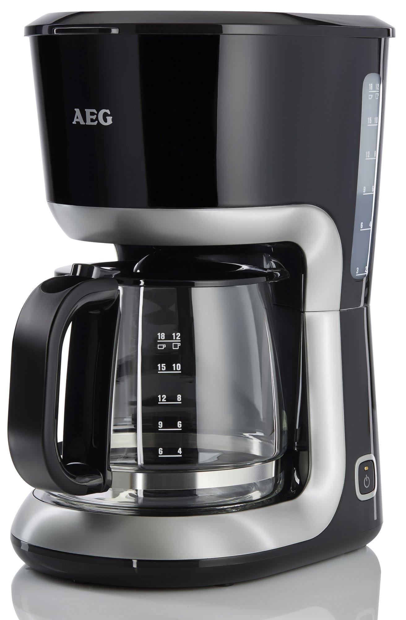 AEG-PerfectMorning-EWA3300-Wasserkocher-2200-Watt-17-Liter-beidseitige-Wasserstandsanzeige-entnehmbarer-und-abwaschbarer-Kalkfilter-tropffreier-Ausguss-Abschaltautomatik-BPA-frei-Schwarz