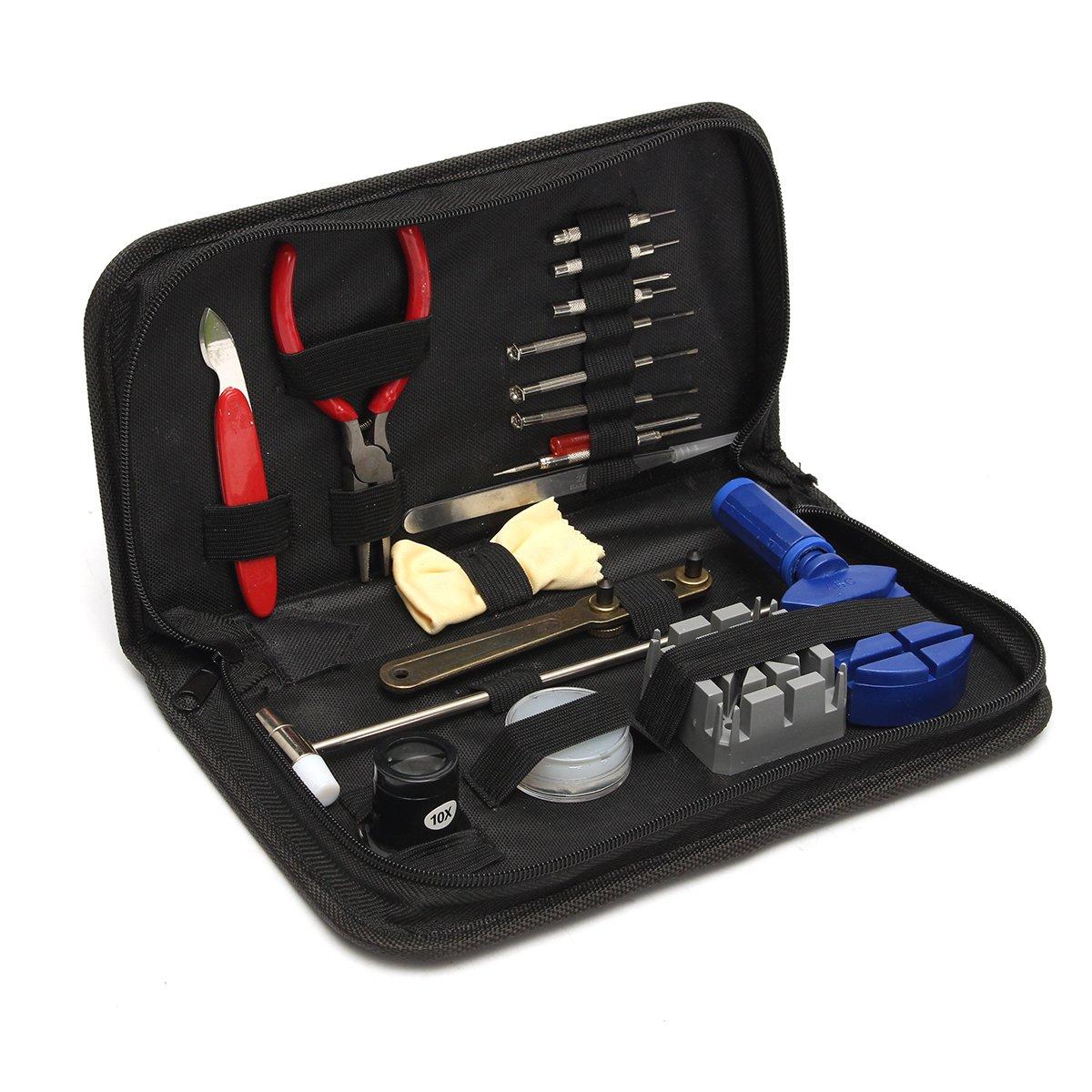 LEXPON-Uhrenwerkzeug-Set-379tlg-Uhrmacherwerkzeug-Uhr-Werkzeug-Tasche-Reparatur-Watch-Tools-Watch-Band-Edelstahl-Feder-Takte-Link-Pins-in-schwarze-Nylontasche