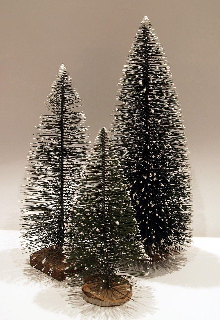 Tanne-Weihnachts-Baum-mit-Schnee-3er-Set-121620-cm-Krippenstall-Krippenzubehr