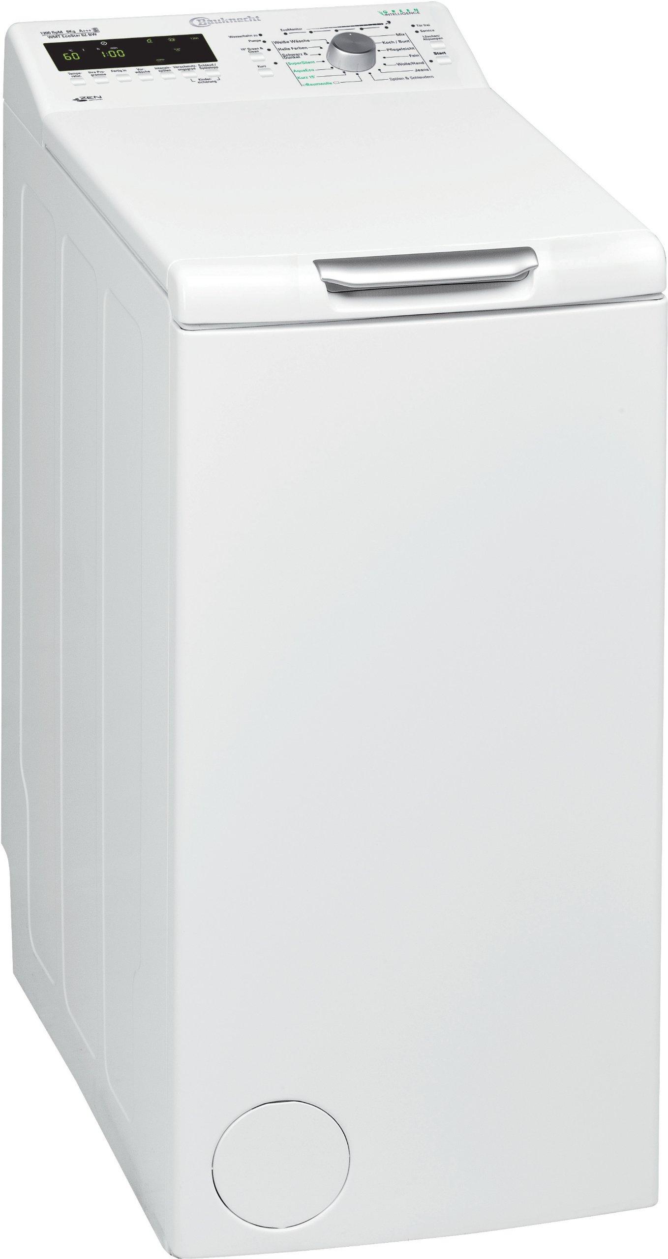 Bauknecht-WMT-EcoStar-6Z-BW-Waschmaschine-Toplader-A-1200-UpM-6-kg-EcoMonitor-ZenTechnologie-E8-display-Vollwasserschutz-wei