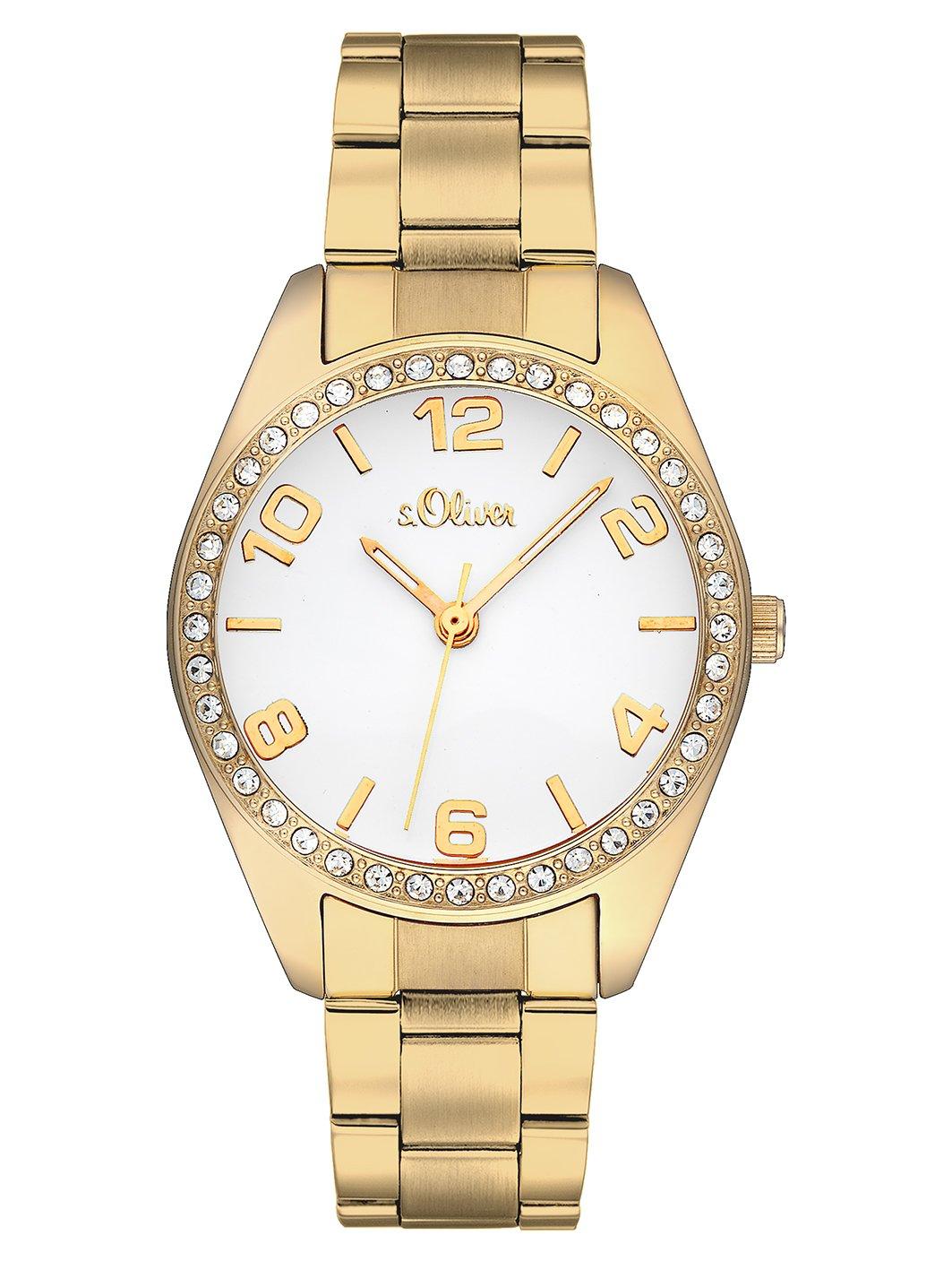 sOliver-Time-Damen-Quarz-Uhr-mit-Edelstahl-Armband