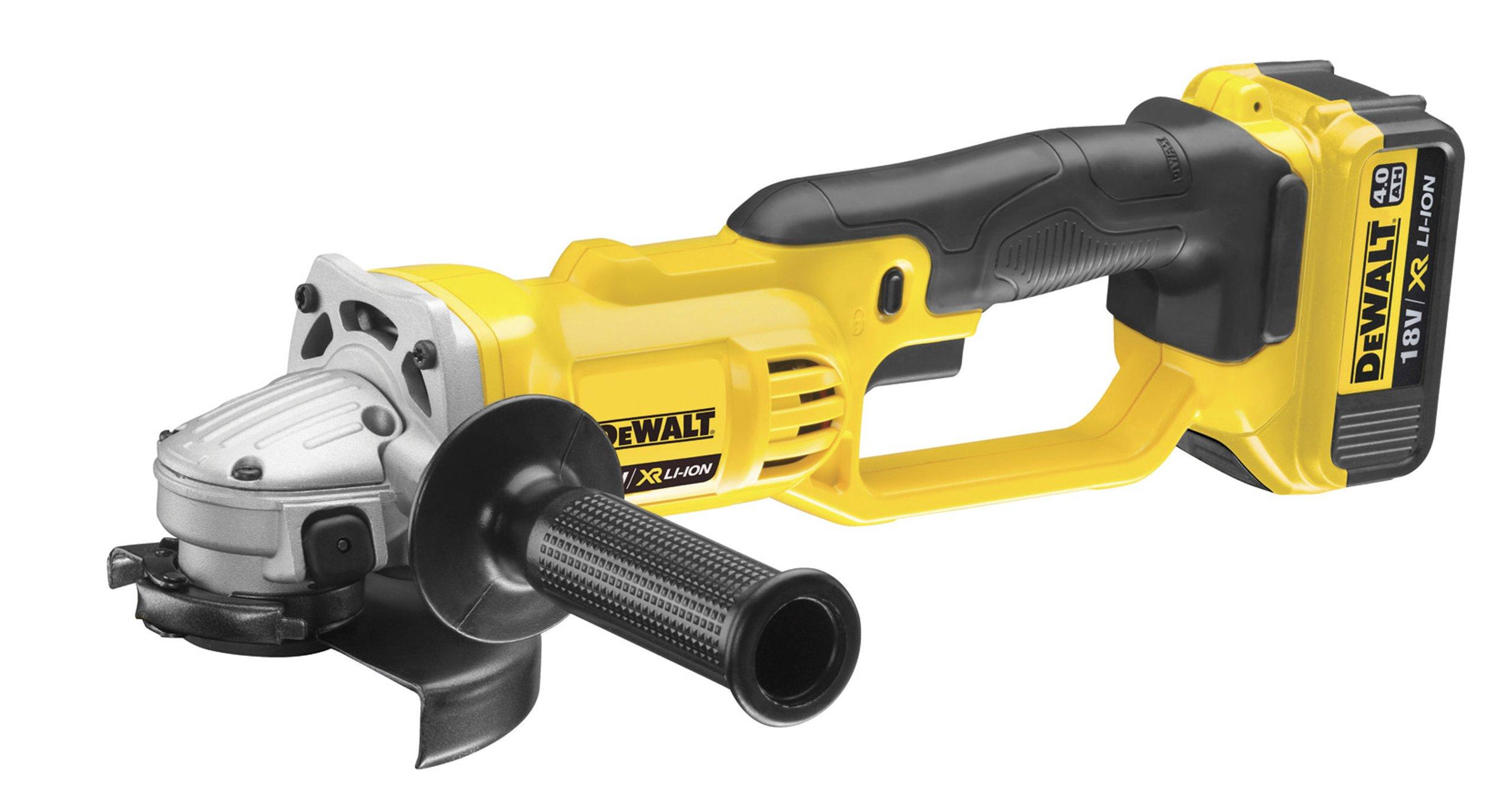 DeWalt-Akku-Winkelschleifer-18V-40-Ah-125-mm-Scheiben–fr-alle-Standard-Trenn-Schleif-und-Schrupparbeiten-inkl-2x-XR-Akkus-Schnell-Ladegert-Schutzhaube-Stirnlochschlssel-und-Transportkoffer-DCG412M2