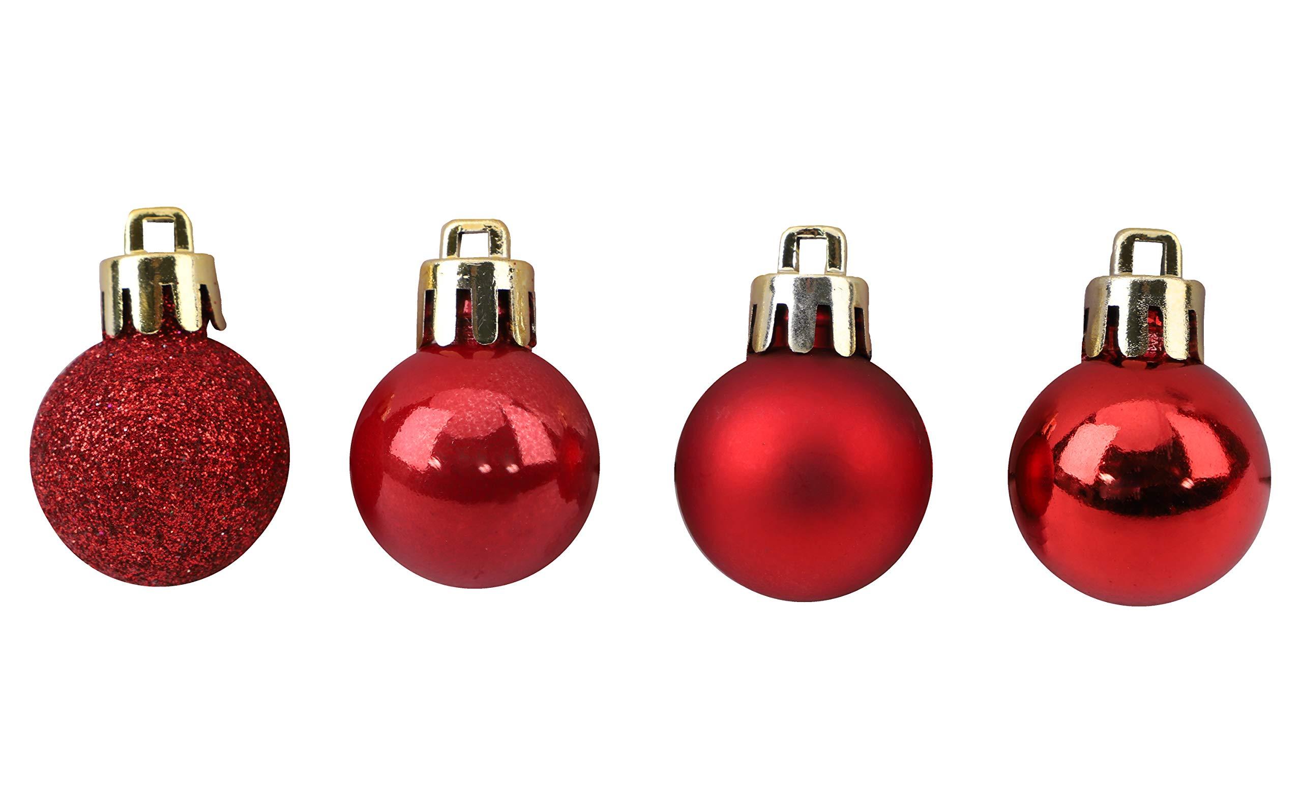 Toyland-Set-mit-96-Mini-Weihnachtskugeln-32-rote-32-Silberne-und-32-goldene-Kugeln-25-cm-25-mm