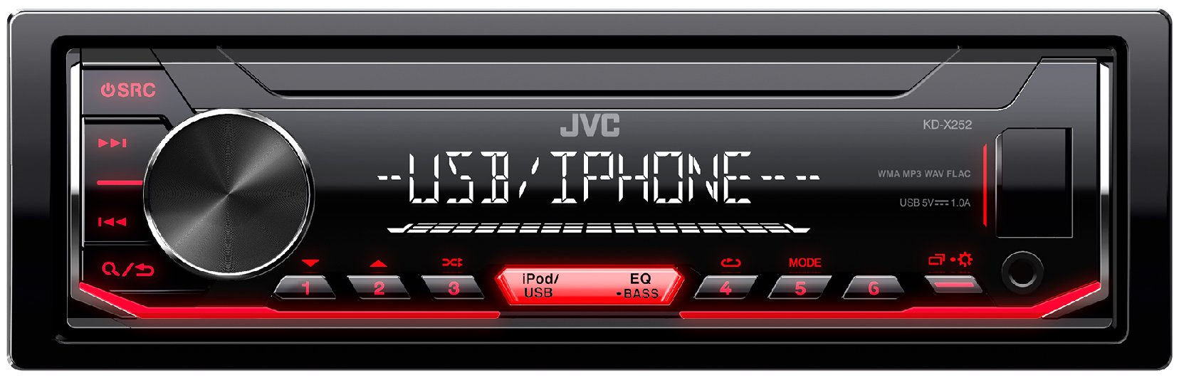 JVC-KD-X252-Digital-Media-Receiver-schwarz
