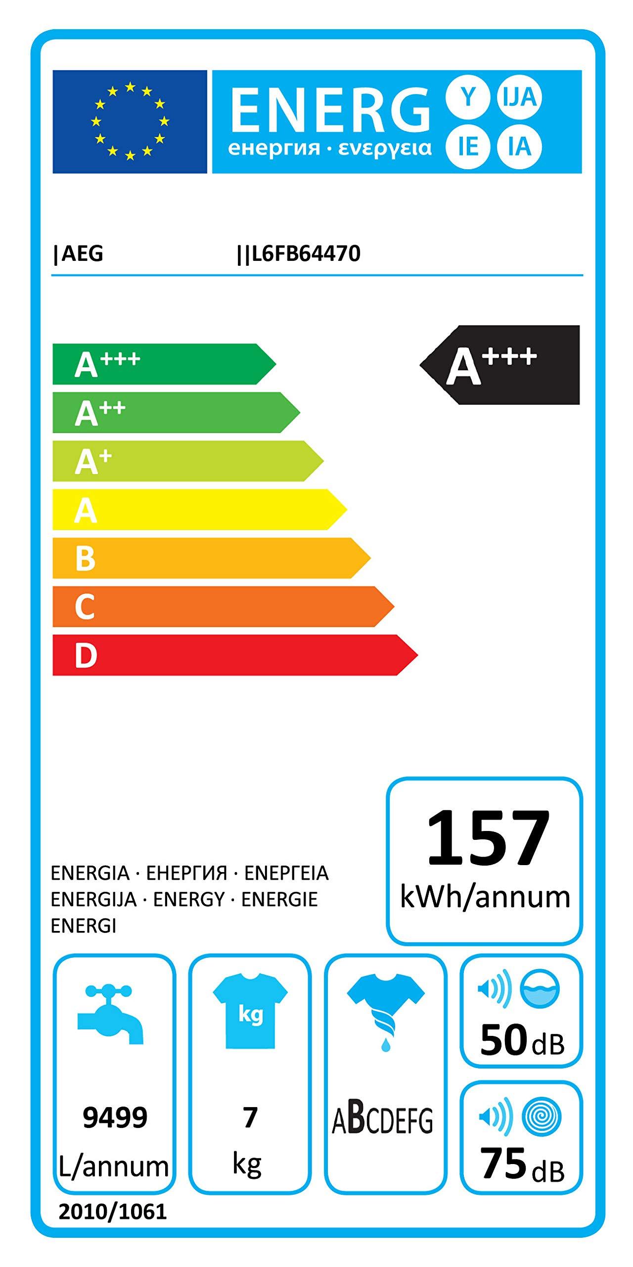 AEG-L6FB64470-Waschmaschine-Frontlader-1570-kWhJahr-Wei-Waschautomat-mit-Mengenautomatik-Schutz-fr-edle-Textilien-dank-ProTex-Schontrommel-7-kg-leiser-und-robuster-ko-Inverter-Motor