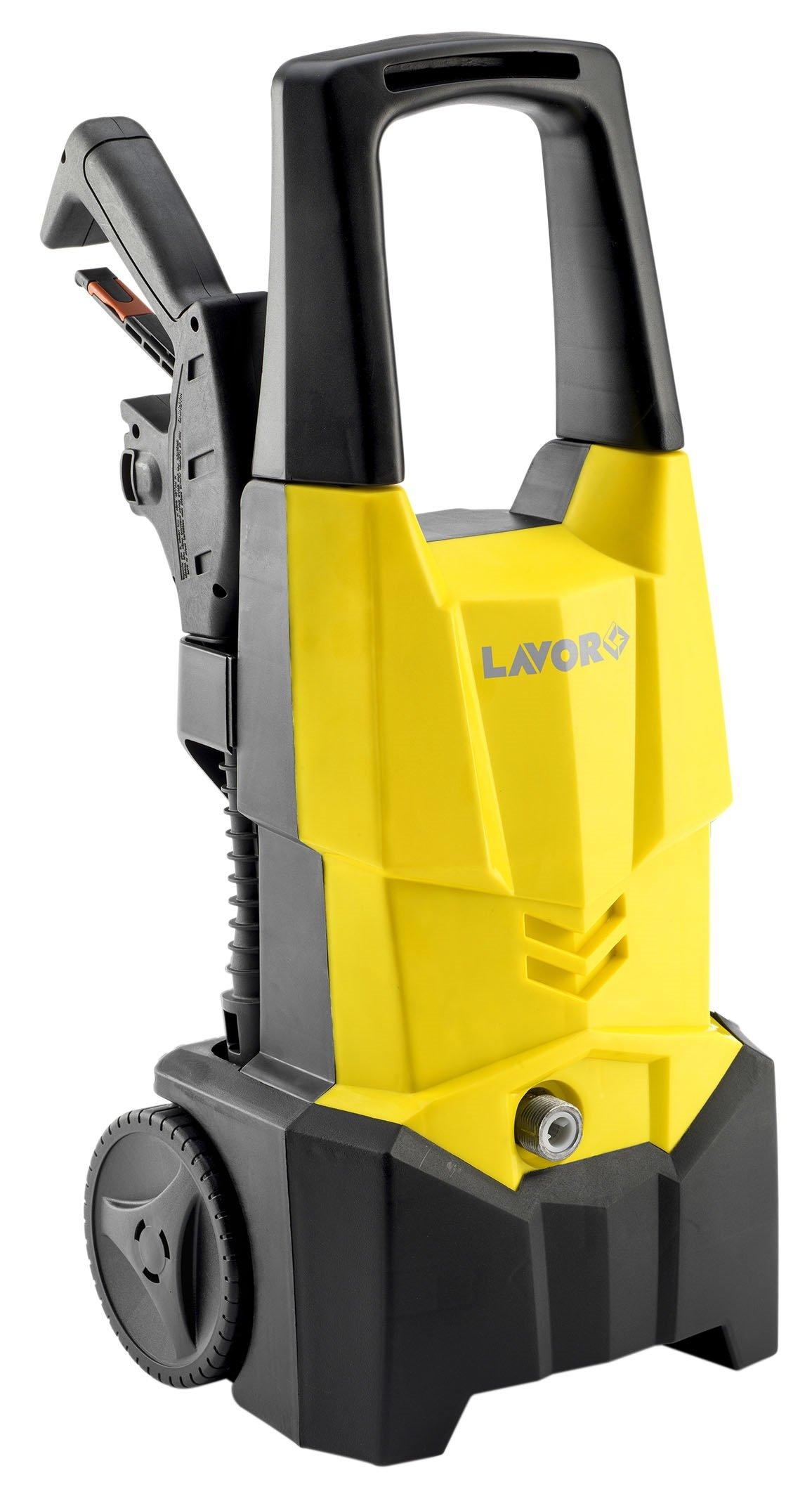 Hochdruckreiniger-ONE-PLUS-130-Kaltwasser-Hochdruckreiniger-130-bar-Arbeitsdruck-inkl-verschiedener-Zubehraufstze-Lieferleistung-420-lh-mit-Rollen