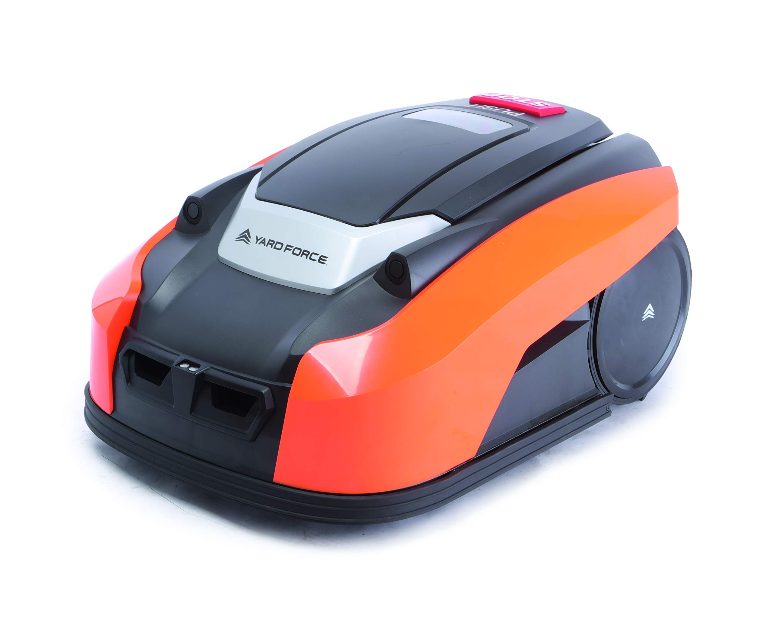YardForce-X100i-Mhroboter–Selbstfahrender-City-Rasenmher-Roboter-mit-Begrenzungsdraht–Akku-Rasenroboter-fr-bis-zu-400m-Rasen-25-Steigung-28-V-schwarzorange