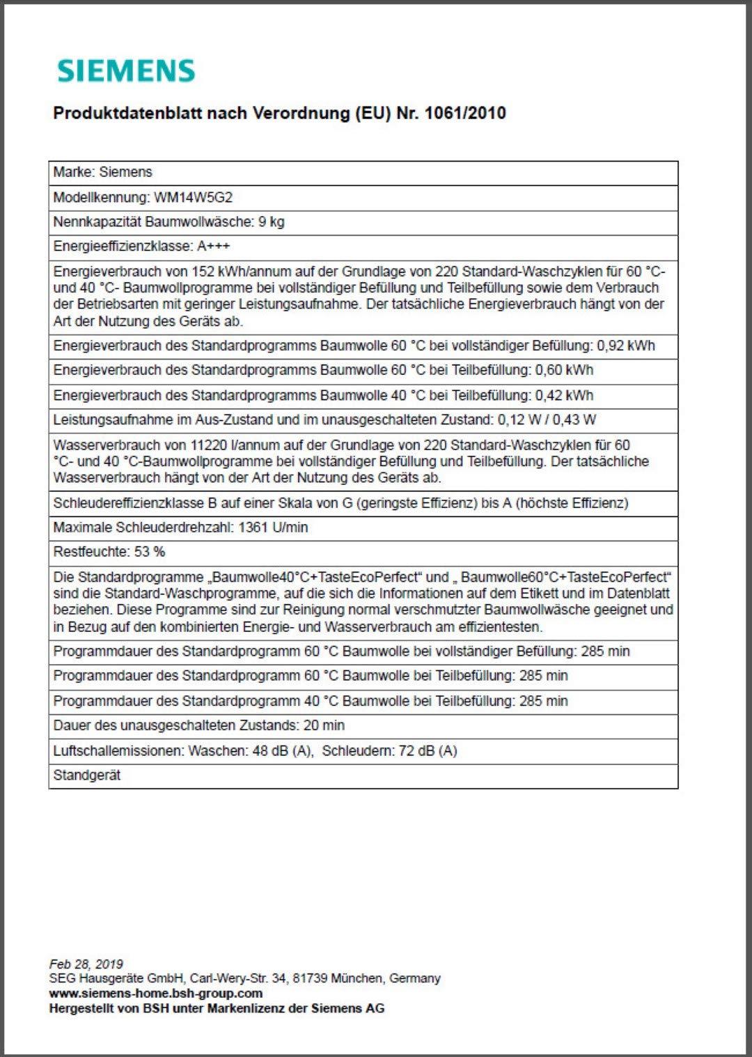 Siemens-WM14W5G2-WaschmaschinenFrontlader-Freistehend-100-cm-Hhe-Modern