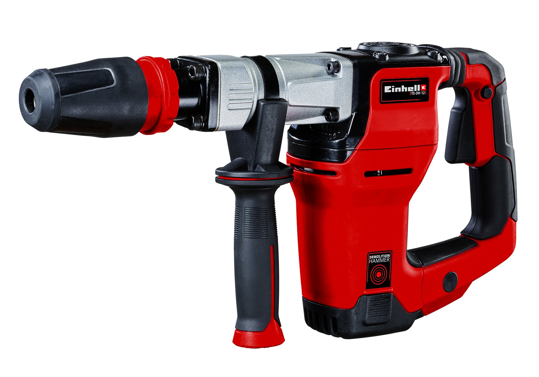 Einhell-Abbruchhammer-TE-DH-12-1050-W-Schlagzahl-4100-Umin-12-Joule-SDS-max-Werkzeugaufnahme-inkl-Spitz-und-Flachmeiel-inkl-E-Box