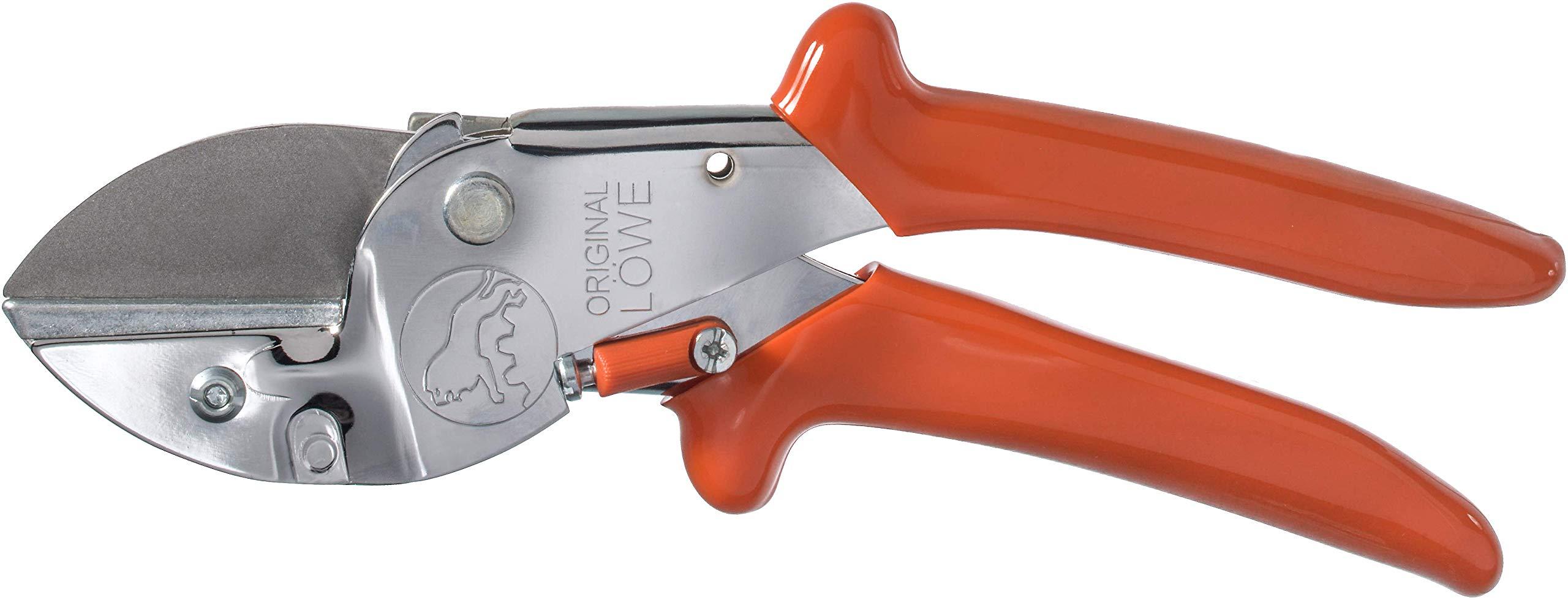 Original-LWE-Profi-Amboss-Gartenschere-1107-mit-ergonomischer-Griffform-robuste-und-scharfe-Schere-aus-rostfreiem-Stahl-eignet-sich-ideal-fr-Holzarten-wie-Eiche-Buche-Esche