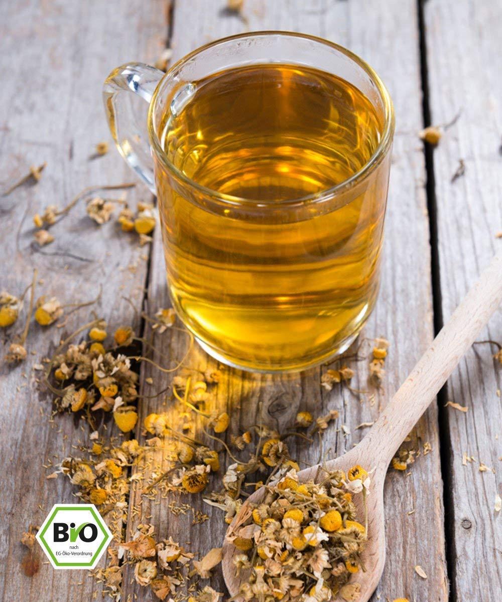 Kamillen-Blten-Tee-Bio-250g-Hochwertigste-ganze-Bio-Kamillenblten-Bio-Kamillen-Tee-Kamillen-Bad-wiederverschliebarer-Zip-beutel-Abgefllt-und-kontrolliert-in-Deutschland-DE-KO-005