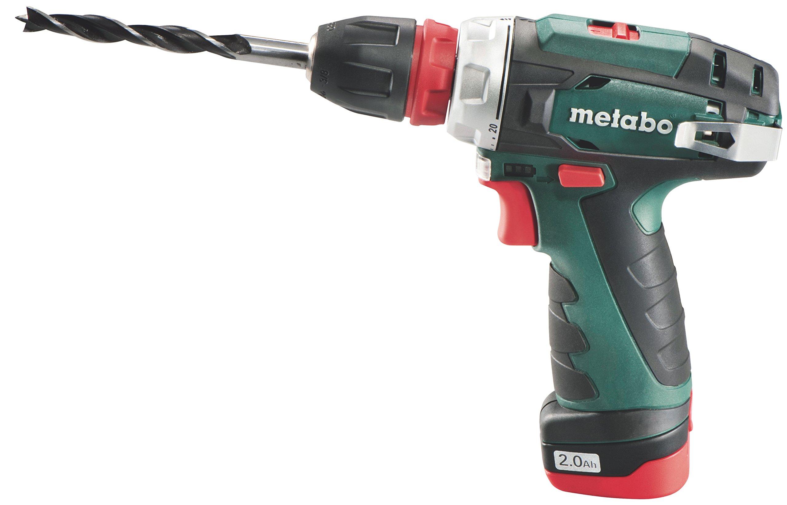 Metabo-600156500-PowerMaxx-BS-Quick-Basic-Akku-Bohrschrauber-108-V-Grn-Rot