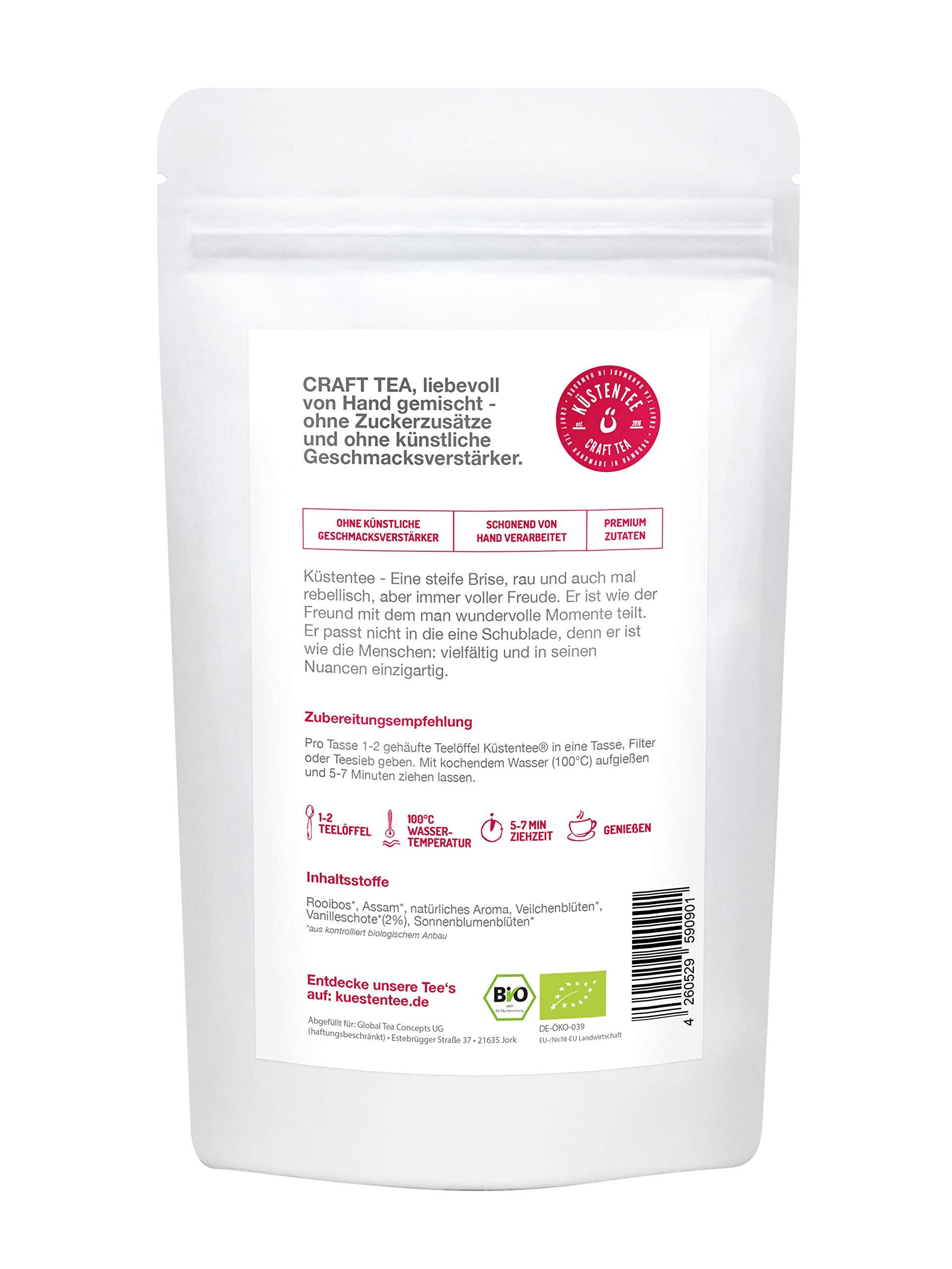 BIO-Rooibos-Rotbusch-Tee-Vanille-ruhepol–mit-echten-Vanillestcken-und-Sonnenblumenblten-aus-Sdafrika-90g-Premium-Tee-aus-der-deutschen-Kstentee-Manufaktur