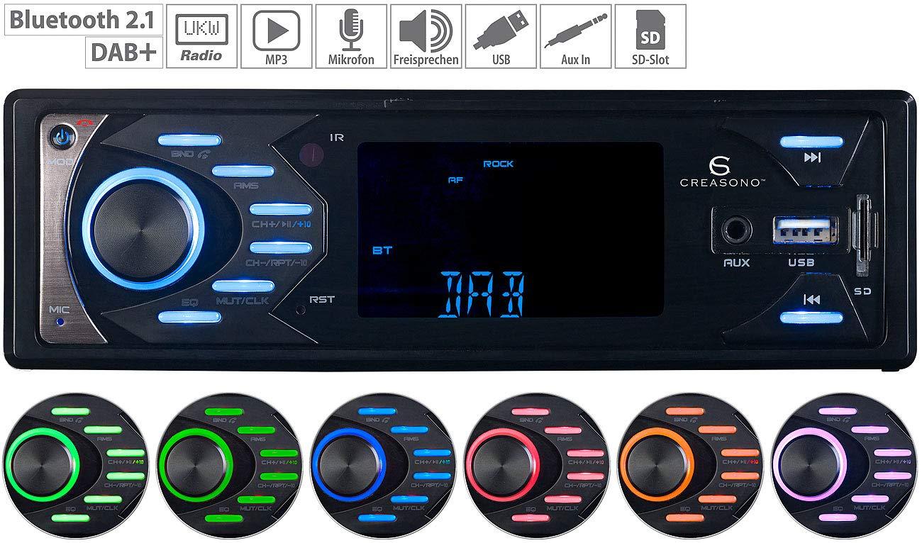 Creasono-Freisprecheinrichtung-MP3-Autoradio-mit-DAB-Bluetooth-Freisprech-Funktion-4X-45-Watt-DAB-Autoradios-mit-MP3-Bluetooth
