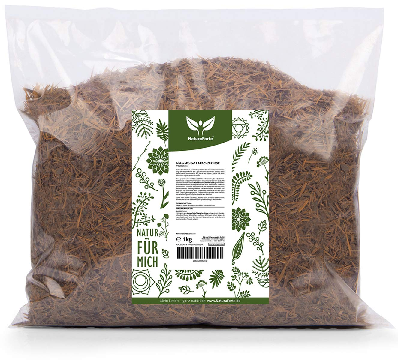 NaturaForte-Lapacho-Rinden-Tee-1kg-Baumrinden-Tee-Reine-innere-rote-Rinde-Premiumqualitt-aus-Brasilien-Angenehm-milder-Geschmack-Ganz-ohne-Zustze-aus-kontrolliertem-Anbau