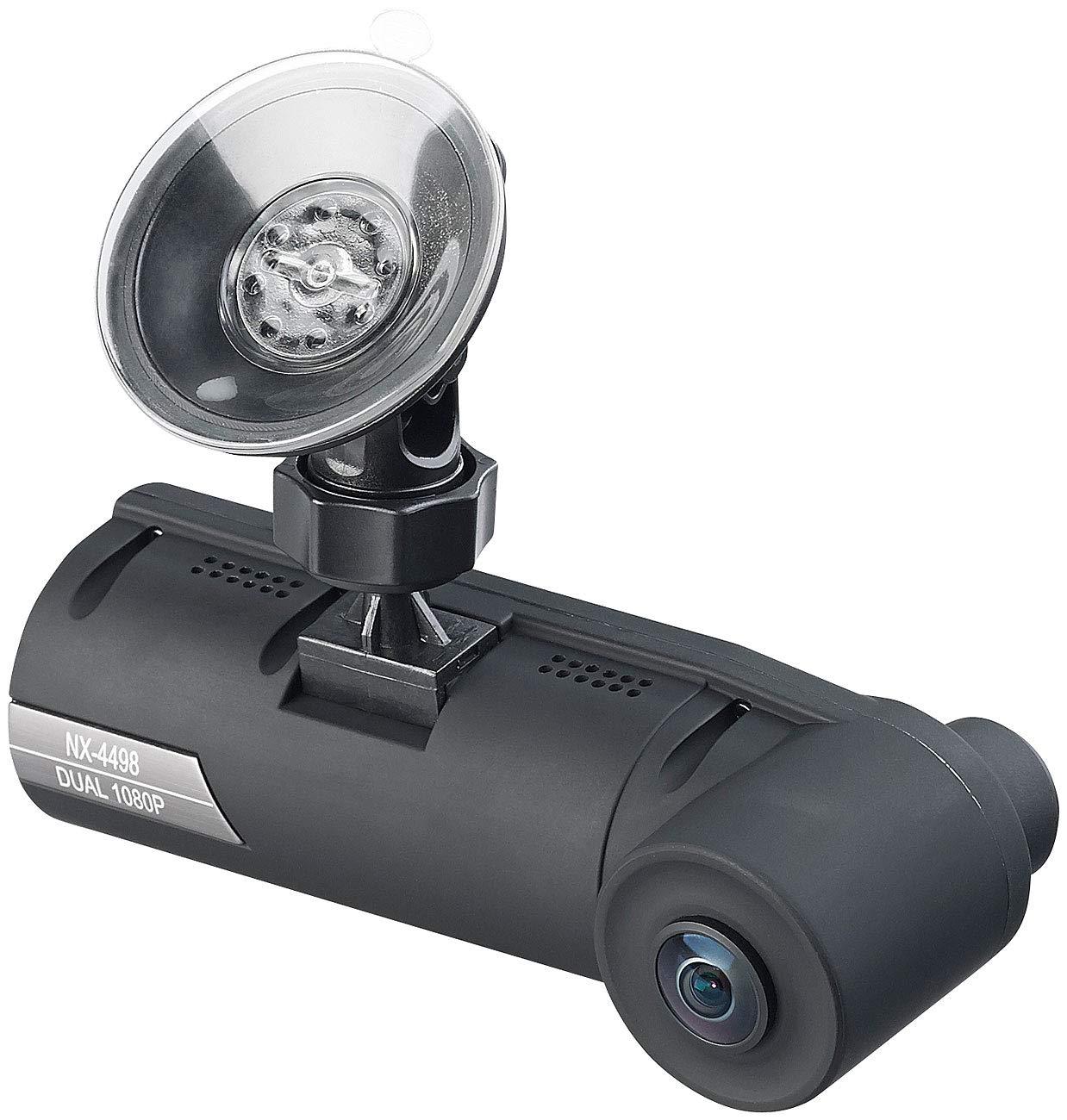 NavGear-Auto-Kamera-Full-HD-Dashcam-mit-2-Kameras-fr-360-Panorama-Sicht-G-Sensor-Dashcam-360-Grad