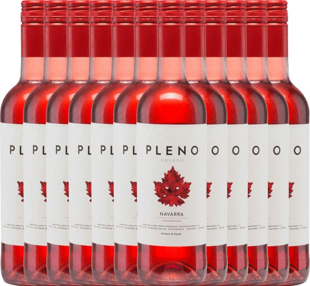 12er-Paket-Pleno-Rosado-DO-2018-Bodegas-Agronavarra-mit-VINELLOweinausgieer-trockener-Roswein-spanischer-Wein-aus-Aragonien-12-x-075-Liter