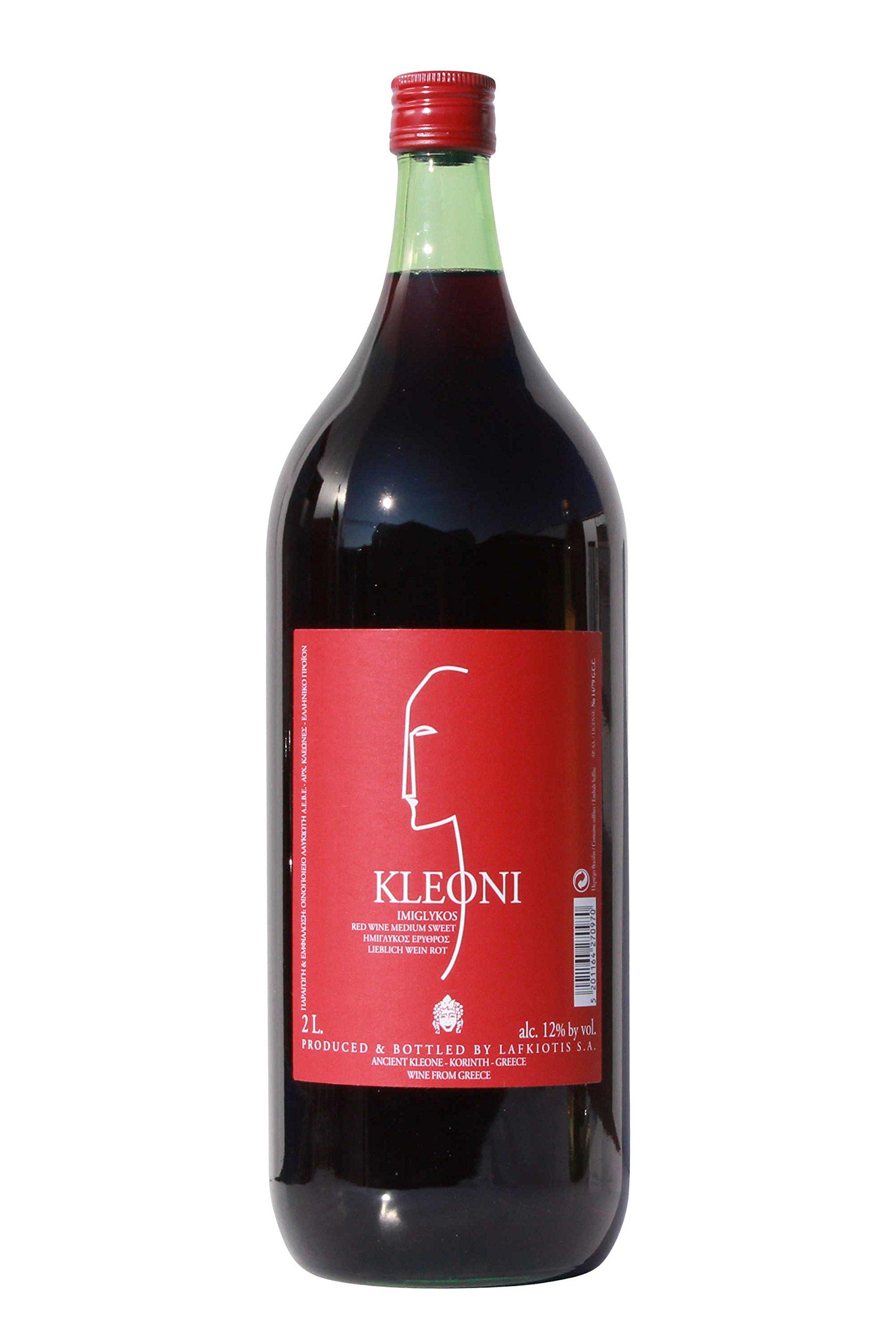 Kleoni-Rotwein-Imiglykos-lieblich-Lafkiotis-2-L-Flasche-griechischer-roter-Wein-Rotwein-Griechenland-Wein