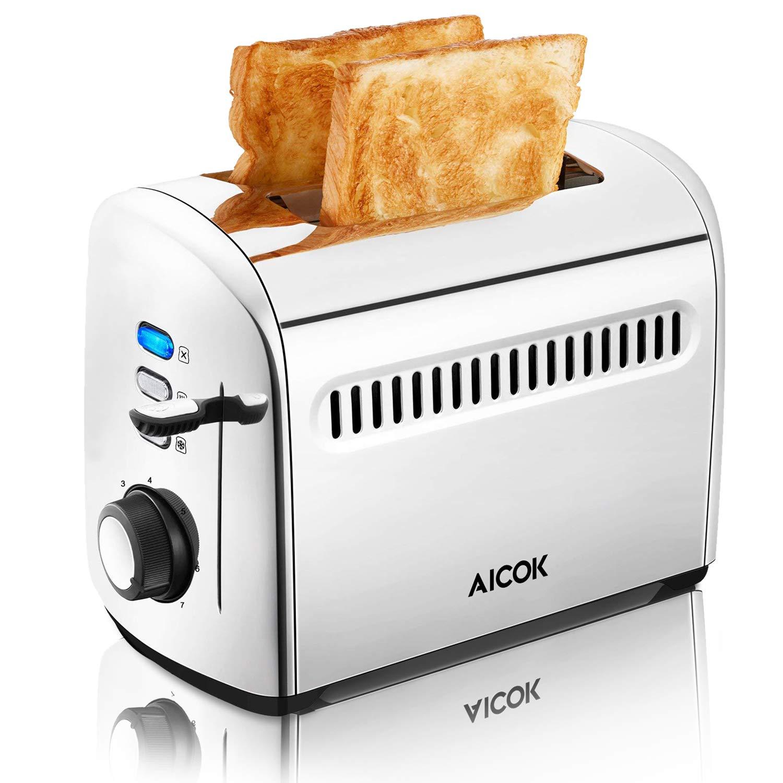 Aicok-Toaster-Toaster-2-Edelstahl-Slots-Toaster-mit-Entfrostungsmodus-7-Farbwhler-950-W
