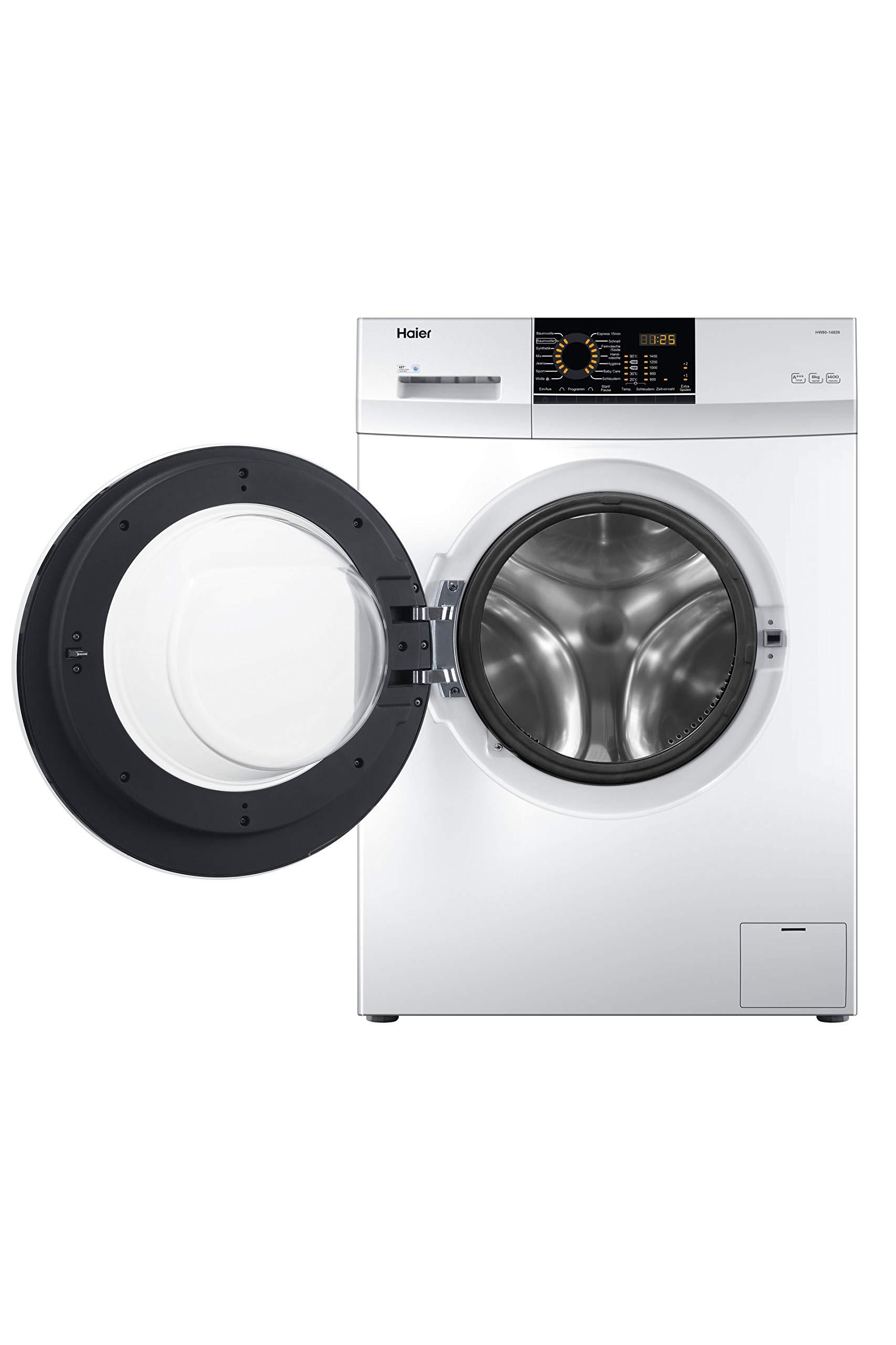 Haier-HW80-14829-Waschmaschine-Frontlader-8-kgA-1400-UpMABTAquaProtect