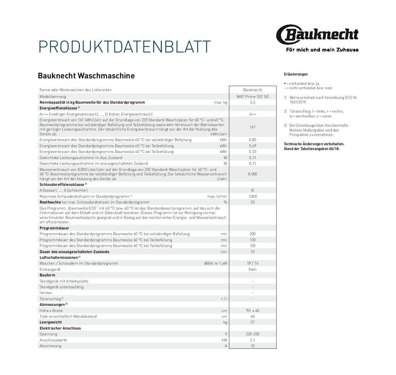 Bauknecht-WAT-Prime-552-SD-Waschmaschine-TLA-161-kWhJahr-1200-UpM-55-kgKurz-15-schnelle-Wsche-in-15-minMengenautomatikwei