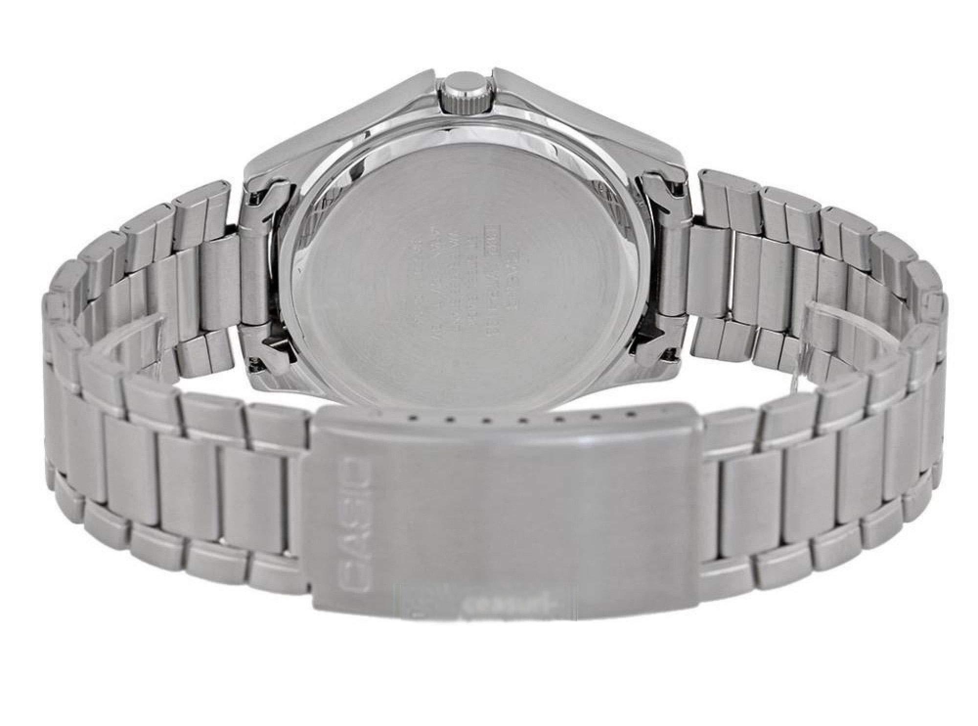 Casio-Herren-Analog-Quarz-mit-Edelstahl-Armbanduhr