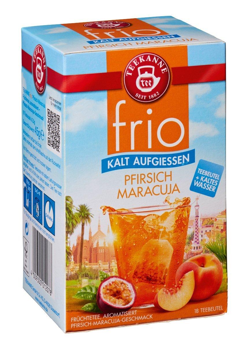Teekanne-frio-4er-Pack-Pfirsich-Maracua-Erdbeere-Orange-Himbeere-Zitrone-und-Limette-Minze-4-x-45g