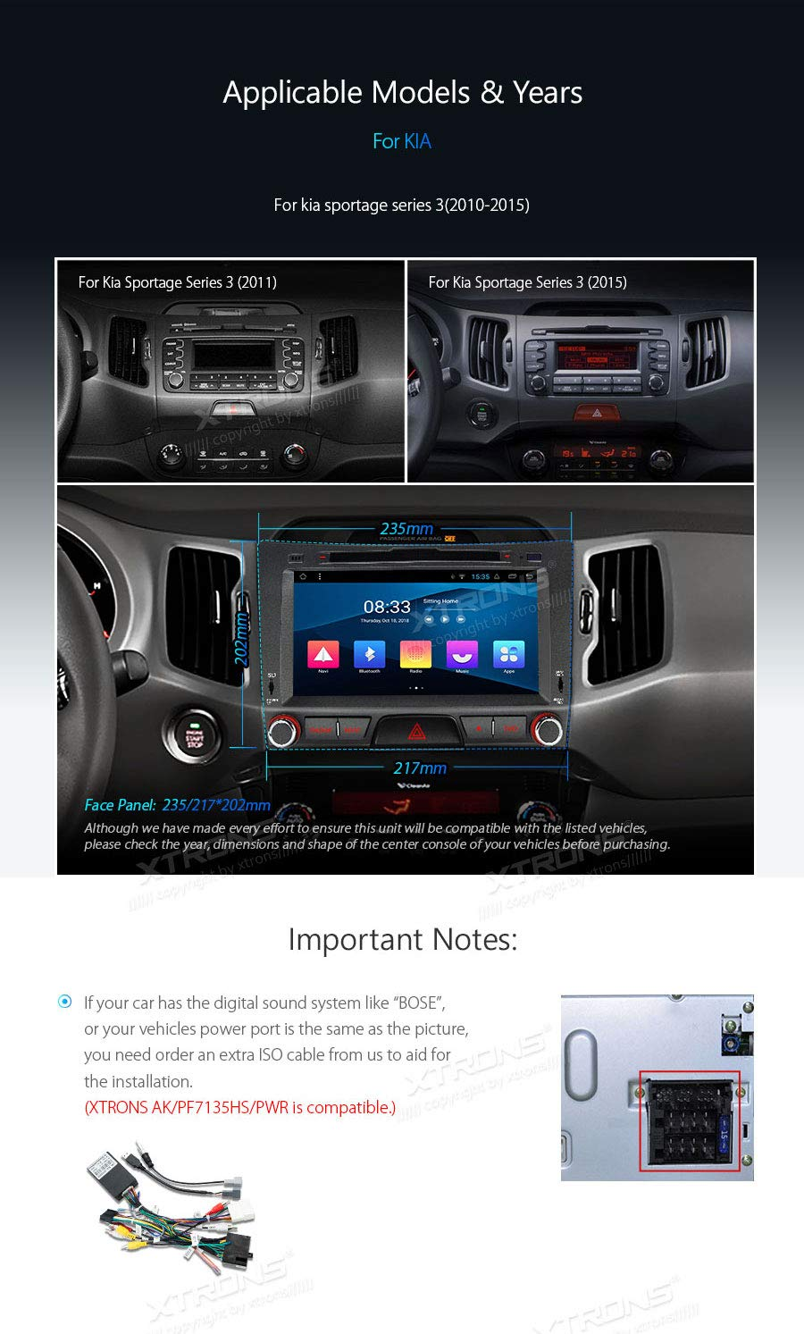 XTRONS-8-Autoradio-mit-Touch-Screen-Android-81-Quad-Core-DVD-Player-Autostereo-untersttzt-3G-4G-Full-RCA-Ausgang-Bluetooth50-Auto-Musik-Streaming-16GB-ROM-DAB-OBD2-FR-KIA