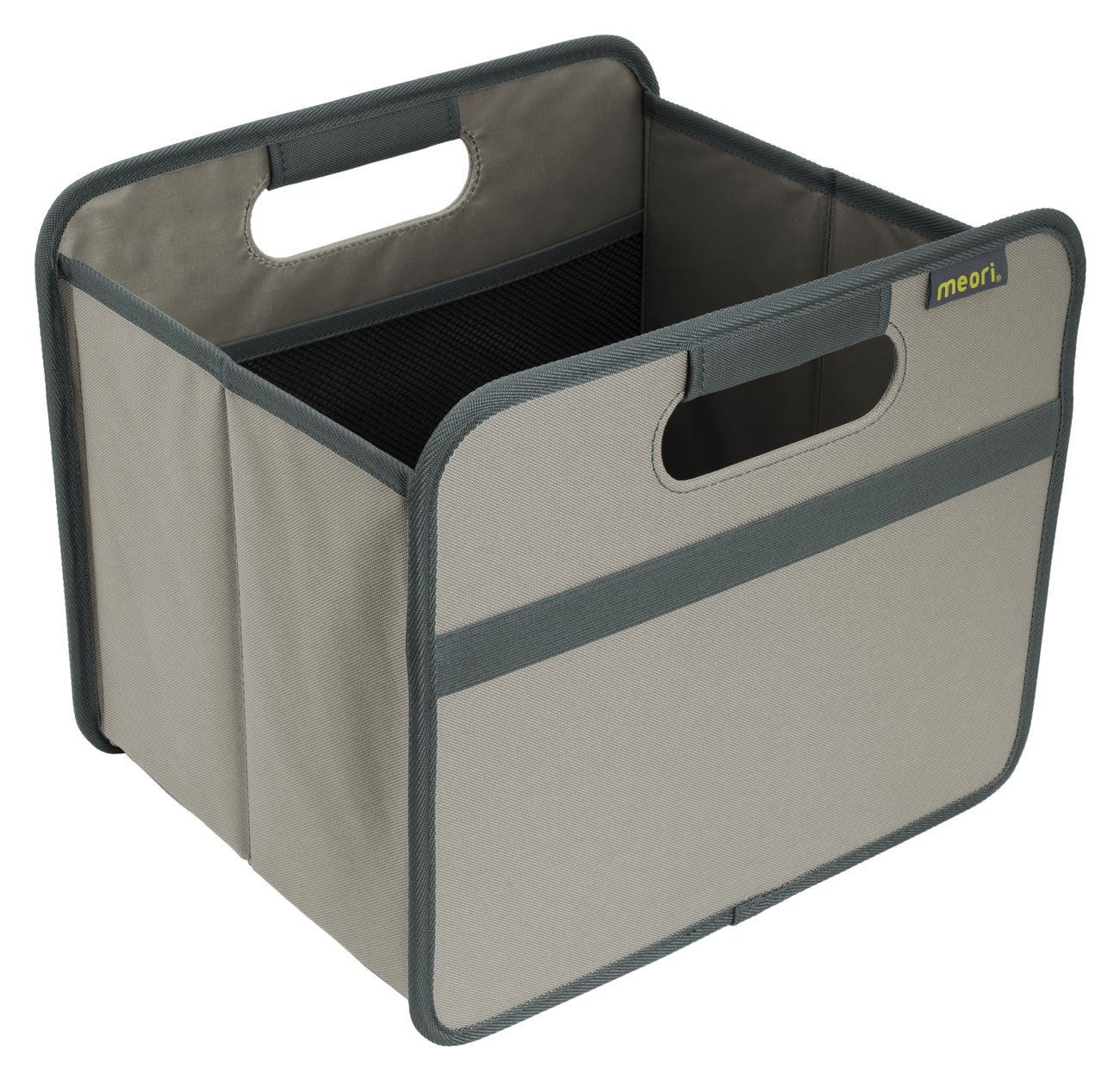 Faltbare-Klappbox-mit-Griffen-und-einem-Fach-mit-zwei-elastischen-Netztaschen-Ideal-zum-Aufrumen-Verstauen-Transportieren