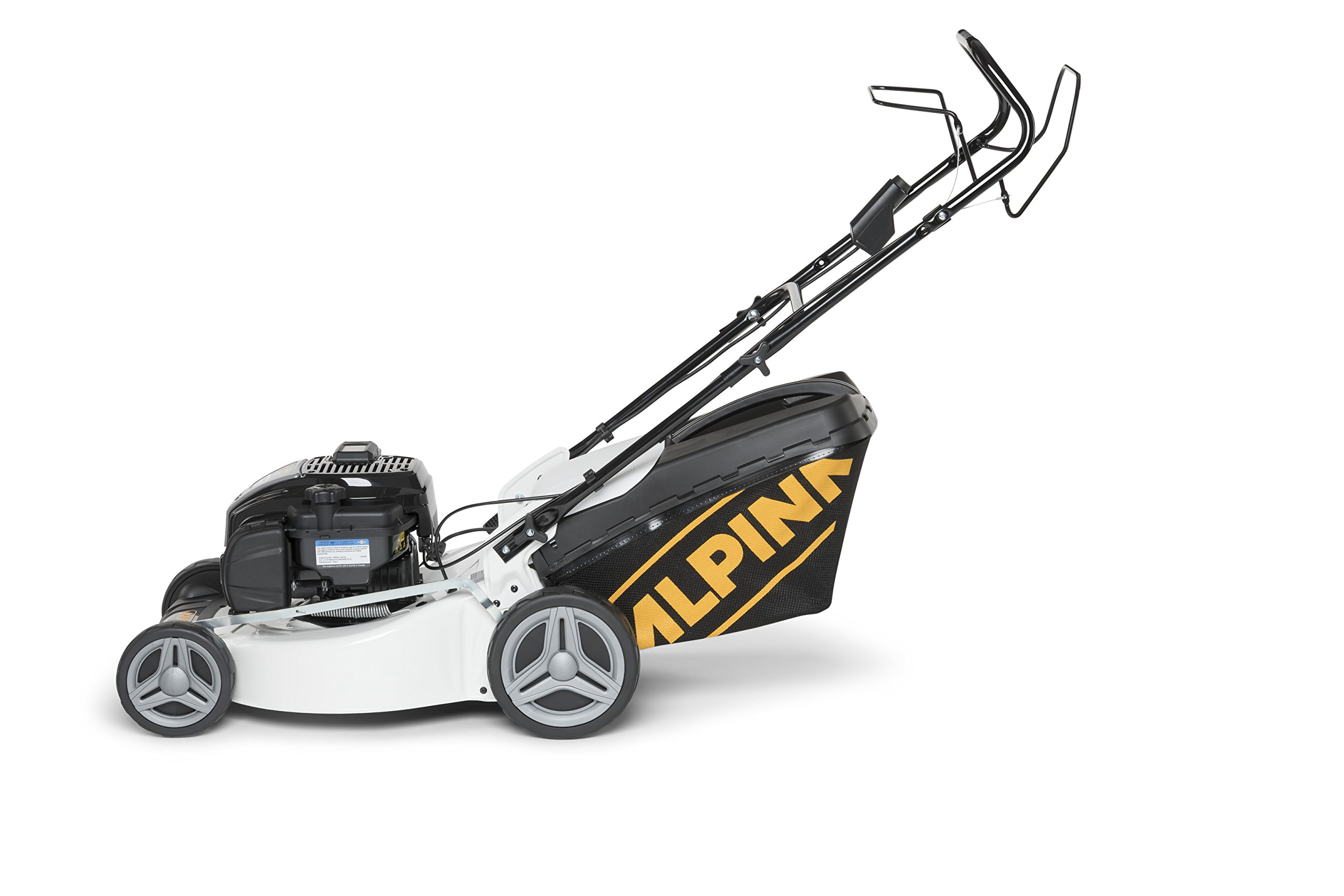 Alpina-295486520A18-Benzin-Rasenmher-150-cc-Schnittbreite-46-cm-Fangkorb-60-L-Mulchen-AL3-46-SBE
