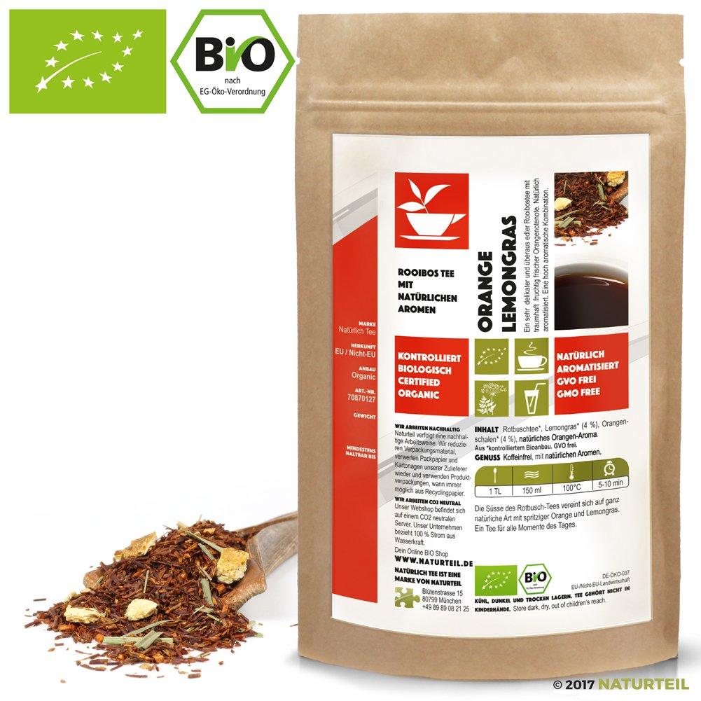 Natrlich-Tee-Bio-Rooibos-Tee-Orange-LemongrasNatrlich-Aromatiserter-Koffeinfreier-Biotee-Rotbusch-Reubusch-Caffeine-Free-South-African-Flavored-Tea-Organic-100-g