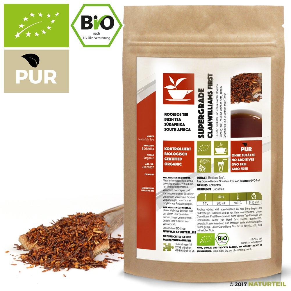 Natrlich-Tee-Bio-Rooibos-Tee-Supergrade-Clanwilliams-FirstKoffeinfreier-Biotee-Rotbusch-Reubusch-Caffeine-Free-South-African-Tea-Organic-100-g