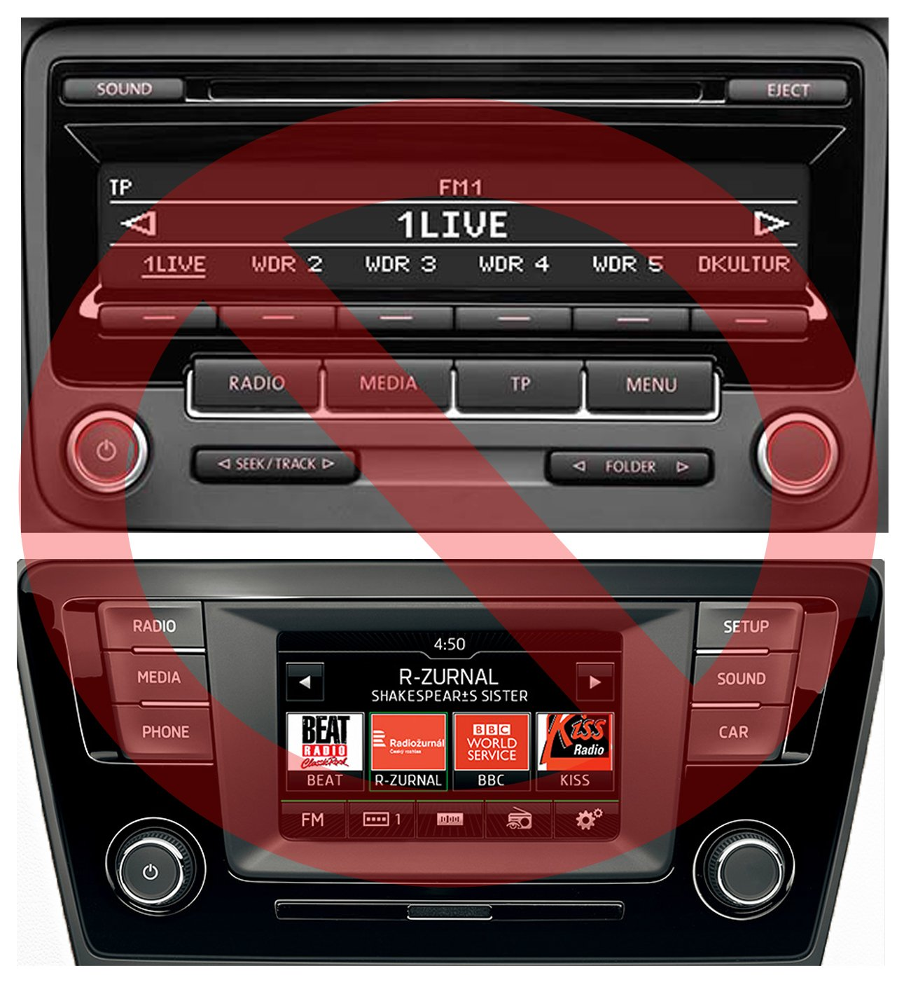 USB-SD-AUX-MP3-Adapter-Bluetooth-Freisprechanlage-fr-VW-RCD-210-RNS-310-ab-Juli-2010-Skoda-Beat-Cruise-Swing-ab-Juli-2010