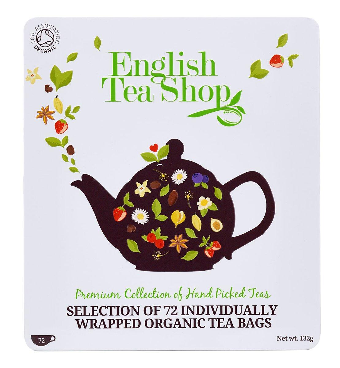 Teegeschenk-in-edler-Metalldose-BIO-Tee-Kollektion-mit-72-x-original-englischem-Tee-9-verschiedene-Sorten–8-einzeln-kuvertierte-Teebeutel-Geschenkidee