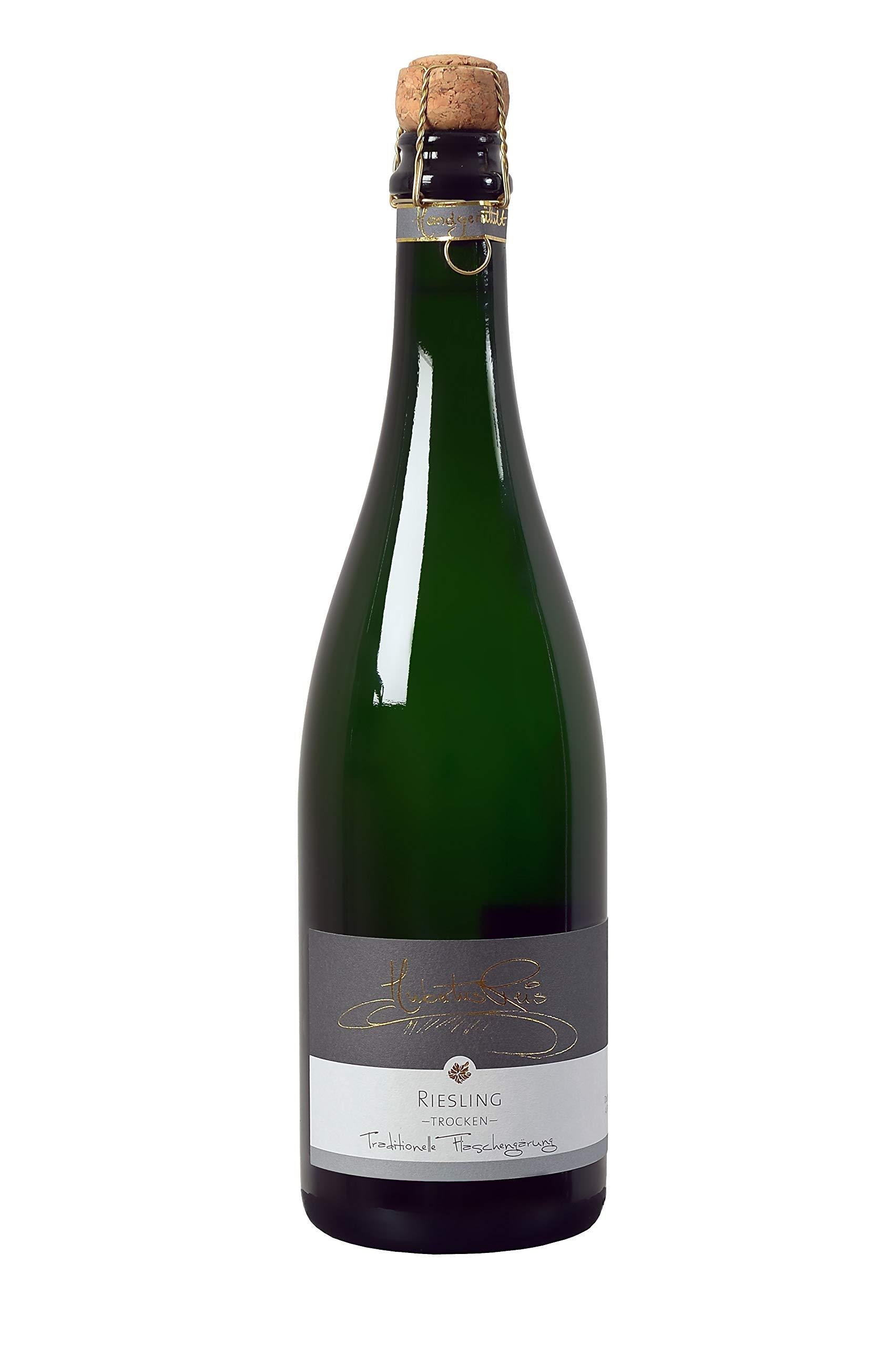 Hubertus-Reis-Riesling-Sekt-trocken-Mosel-6-x-075-l-Winzersekt-Traditionelle-Flaschengrung-Handgerttelt