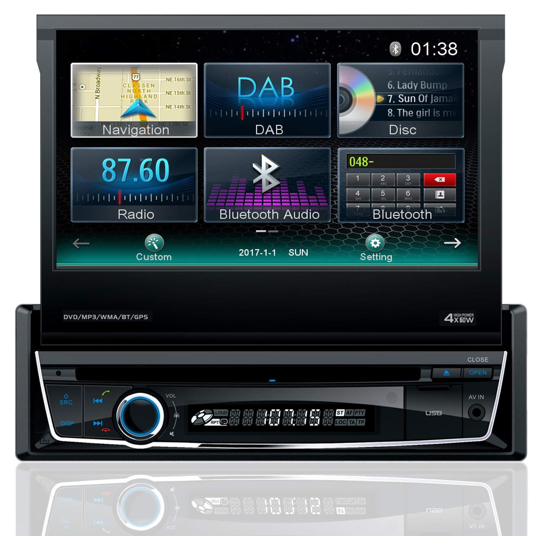 Tristan-Auron-BT1D7018-Autoradio-70-Touchscreen-Bildschirm-ausfahrbar-Navi-DAB-Bluetooth-Freisprecheinrichtung-Mirrorlink-USB-CDDVD-1-DIN-Waze