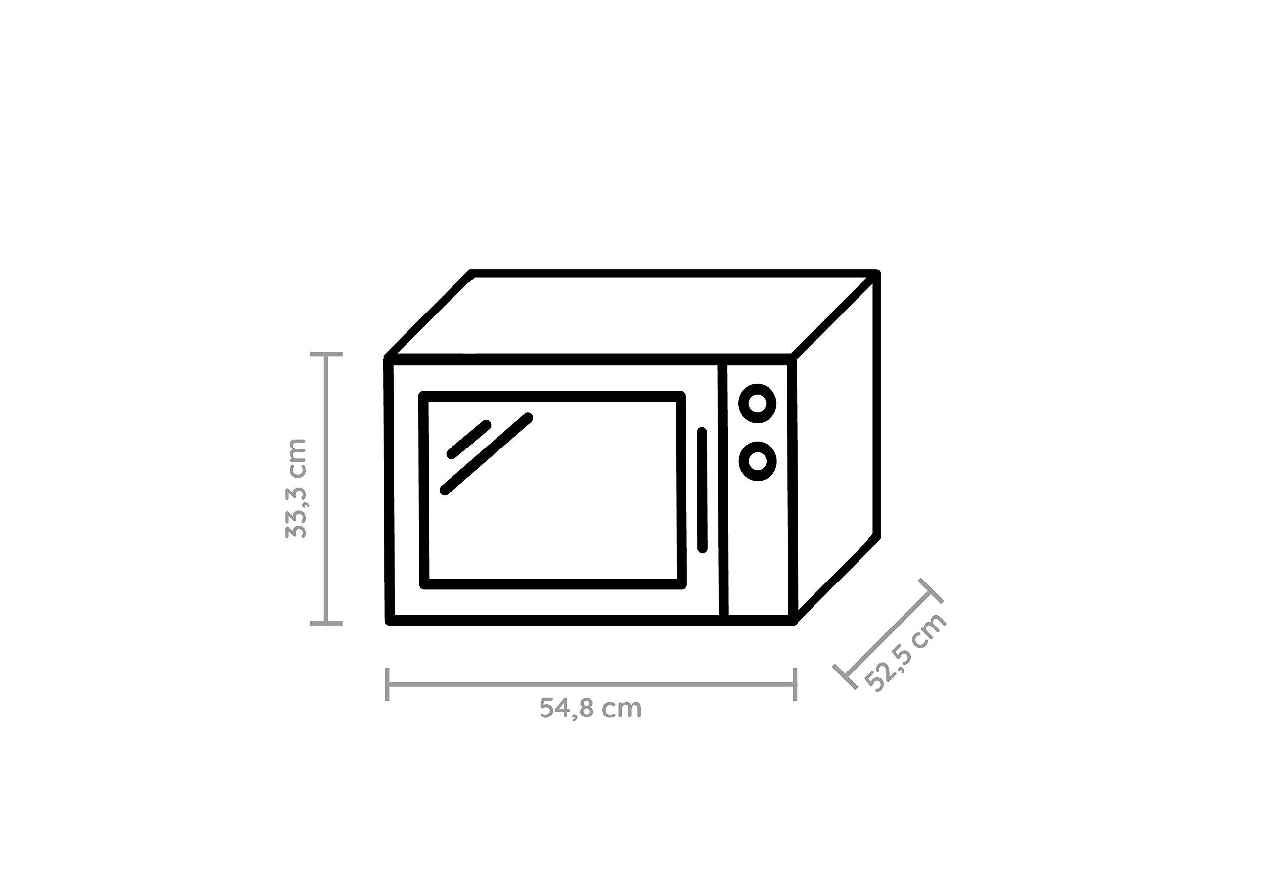 Bauknecht-MW-80-SL-Mikrowelle-2100-W-30-L-GarraumCrisp-FunktionSilber