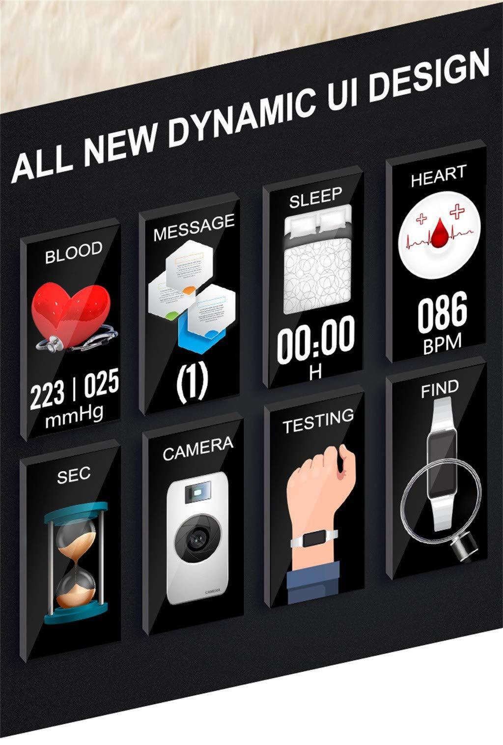 Omiky-Wasserdicht-Smartwatch-H8-Farbbildschirm-Blutdruck-Herzfrequenzmonitor-Smart-Armbanduhr-SchrittzhlerPerfekt-Geeignet-fr-Mnner-Frauen
