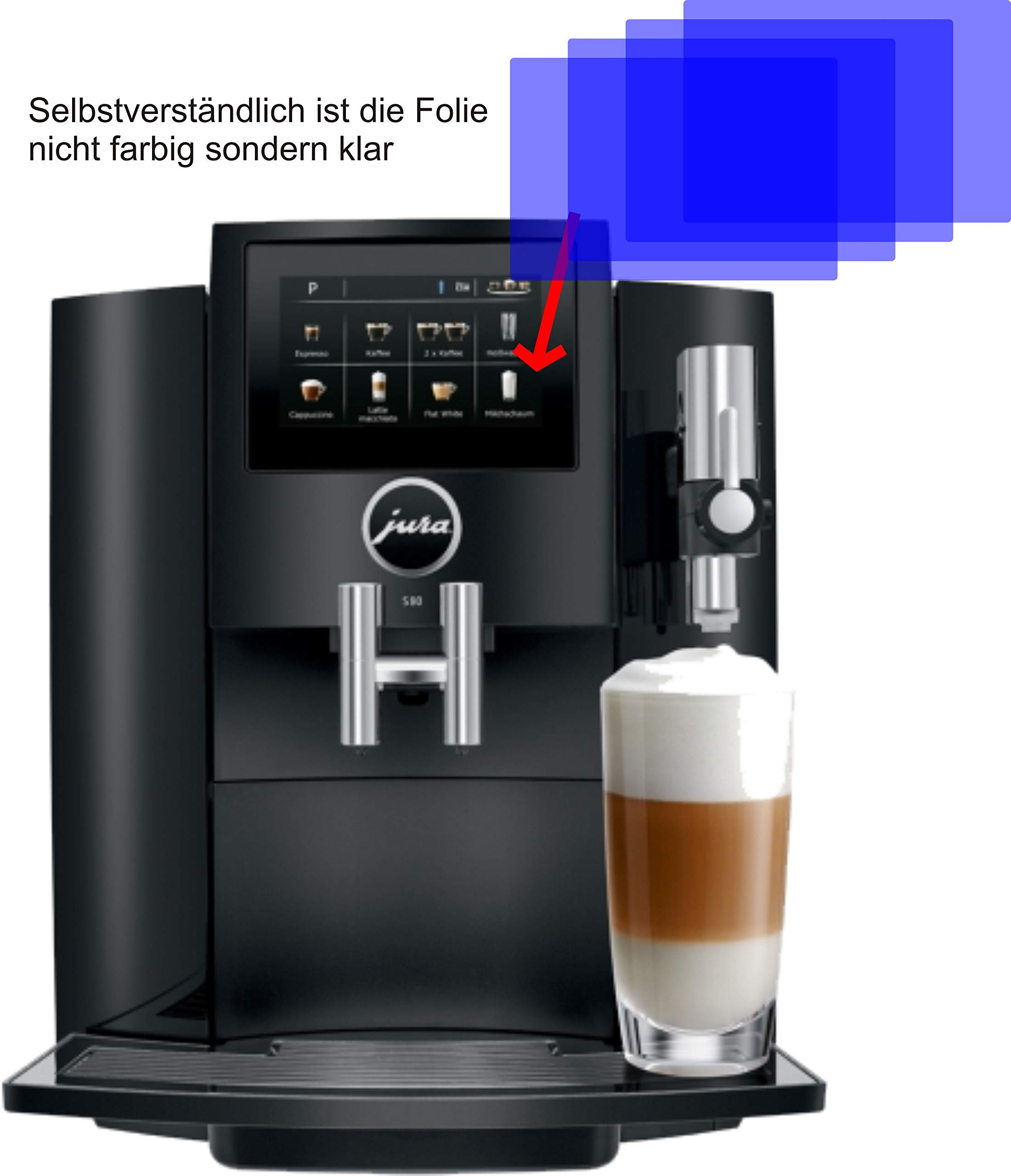 4X-ANTIREFLEX-matt-Schutzfolie-fr-Jura-S80-15204-Kaffeevollautomat-Displayschutzfolie-Bildschirmschutzfolie-Schutzhlle-Displayschutz-Displayfolie-Folie