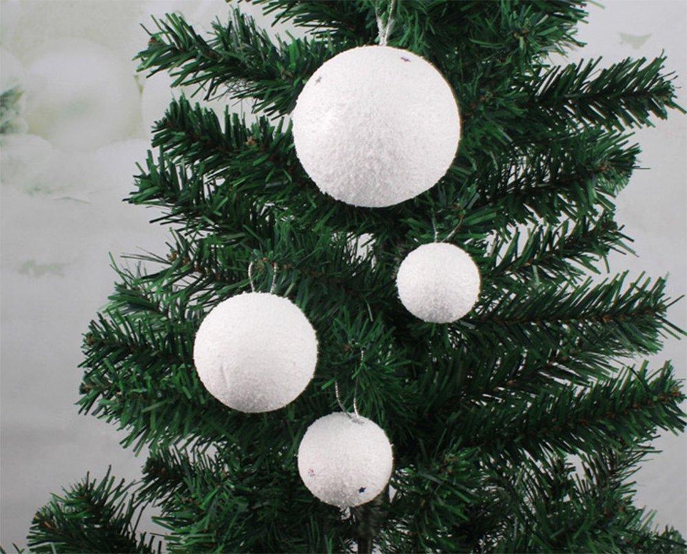 Gespout-6-Stck-Weihnacht-Kugeln-Ornamente-Schneeball-Weihnachten-Kugeln-Deko-Anhnger-Pendant-fr-Weihnachtsbaum-Weihnachtsdekoration-Dekoration-Party