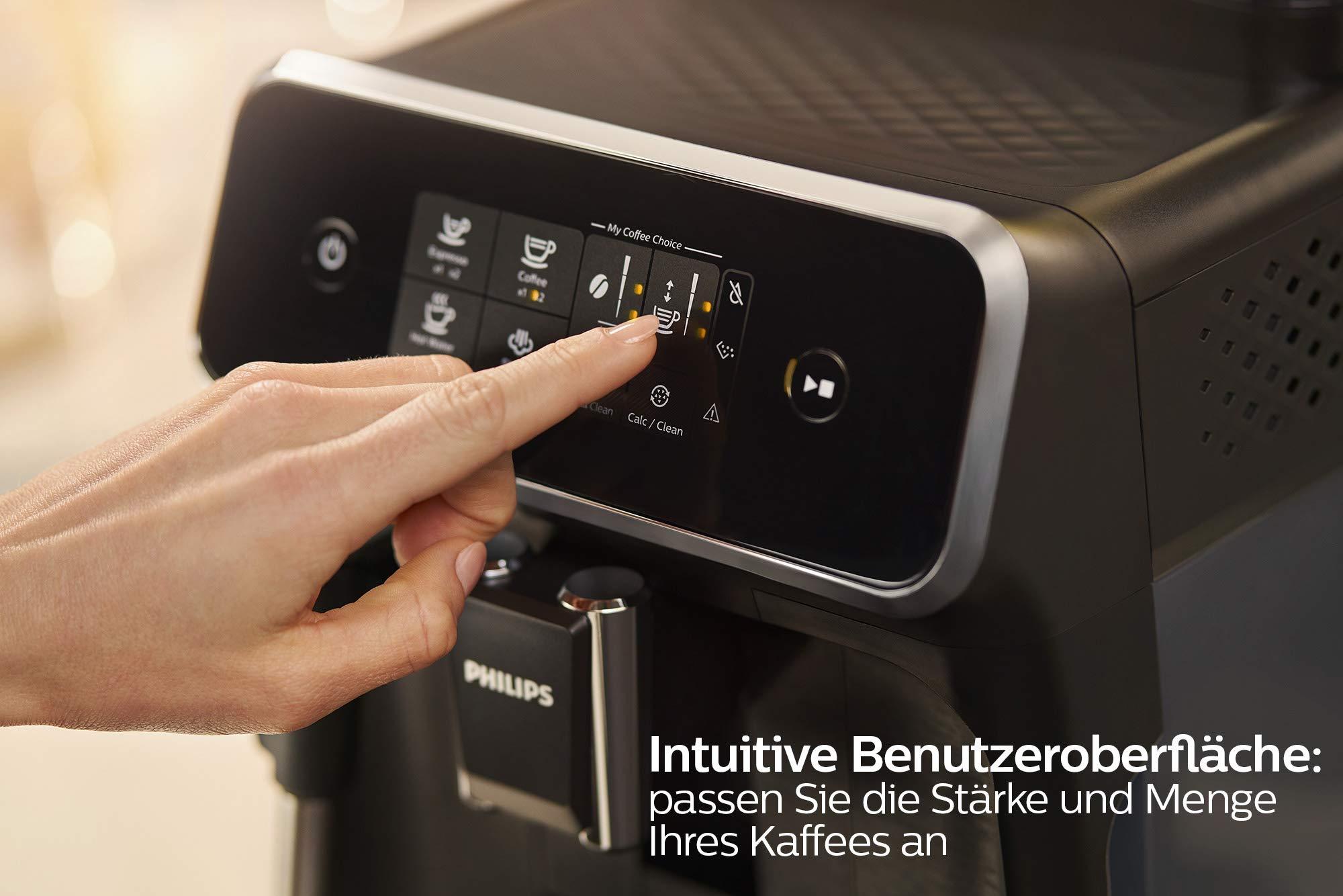 Philips-2200-Serie-EP222010-Kaffeevollautomat-SensorTouch-Benutzeroberflche-schwarzschwarz-gebrstet