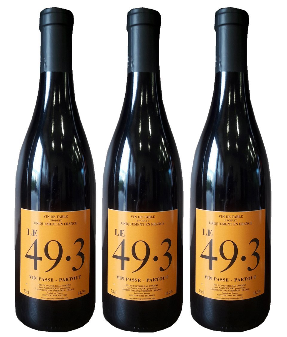 Wein-Chteau-Grand-Moulin-LE-493-Rotwein-aus-Frankreich-100-CINSAULT-Chteau-Grand-Moulin-3-Flaschen
