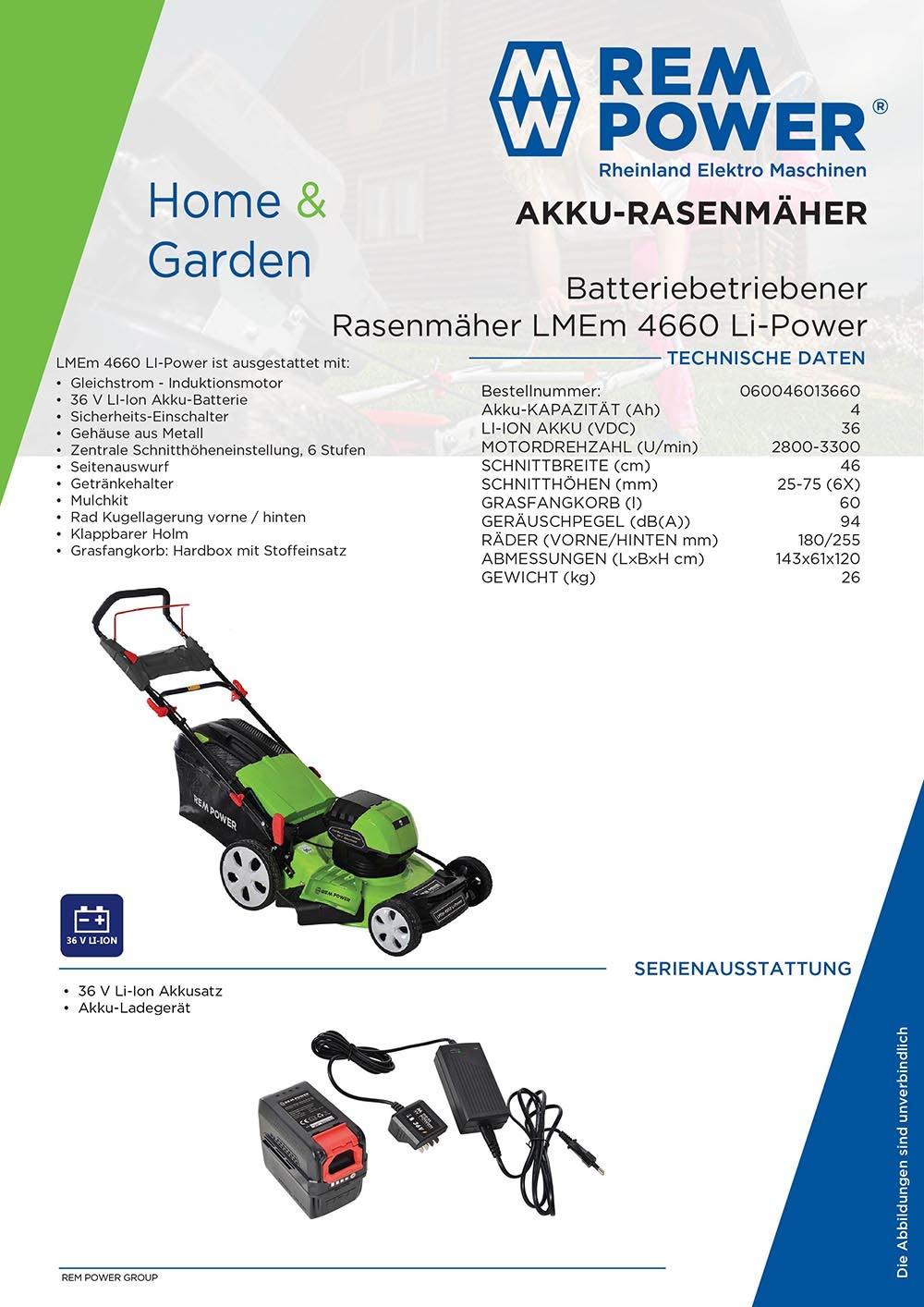 REM-POWER-Rasenmher-LMEm-4660-Li-Power-Schnittbreite-46-cm-Schnitthhe-25-75-mit-Akku-und-Ladegert-LMEm