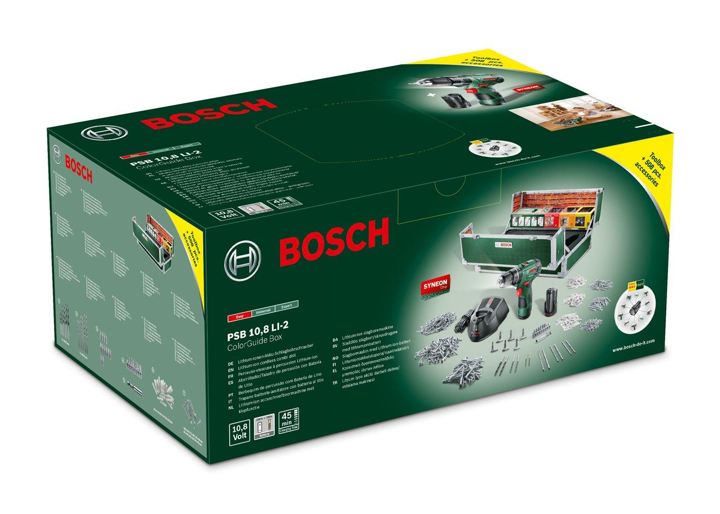 Bosch-Akku-Schlagbohrschrauber-PSB-108-LI-2-Toolbox-Set-2-Akku-508-Zubehrteile-108-V-im-Koffer