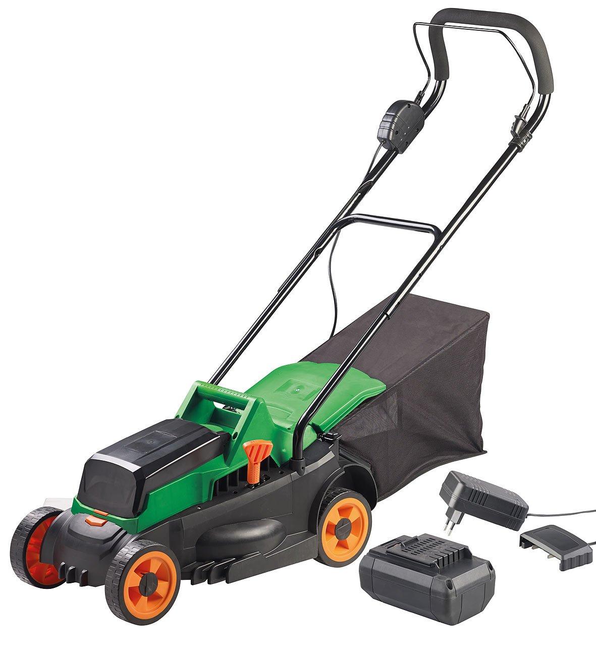 AGT-Professional-Motor-Rasenmher-Akku-Rasenmher-Schnell-Ladegert-4-stufige-Schnitthhe-25-l-4-Ah-Gartenpflege