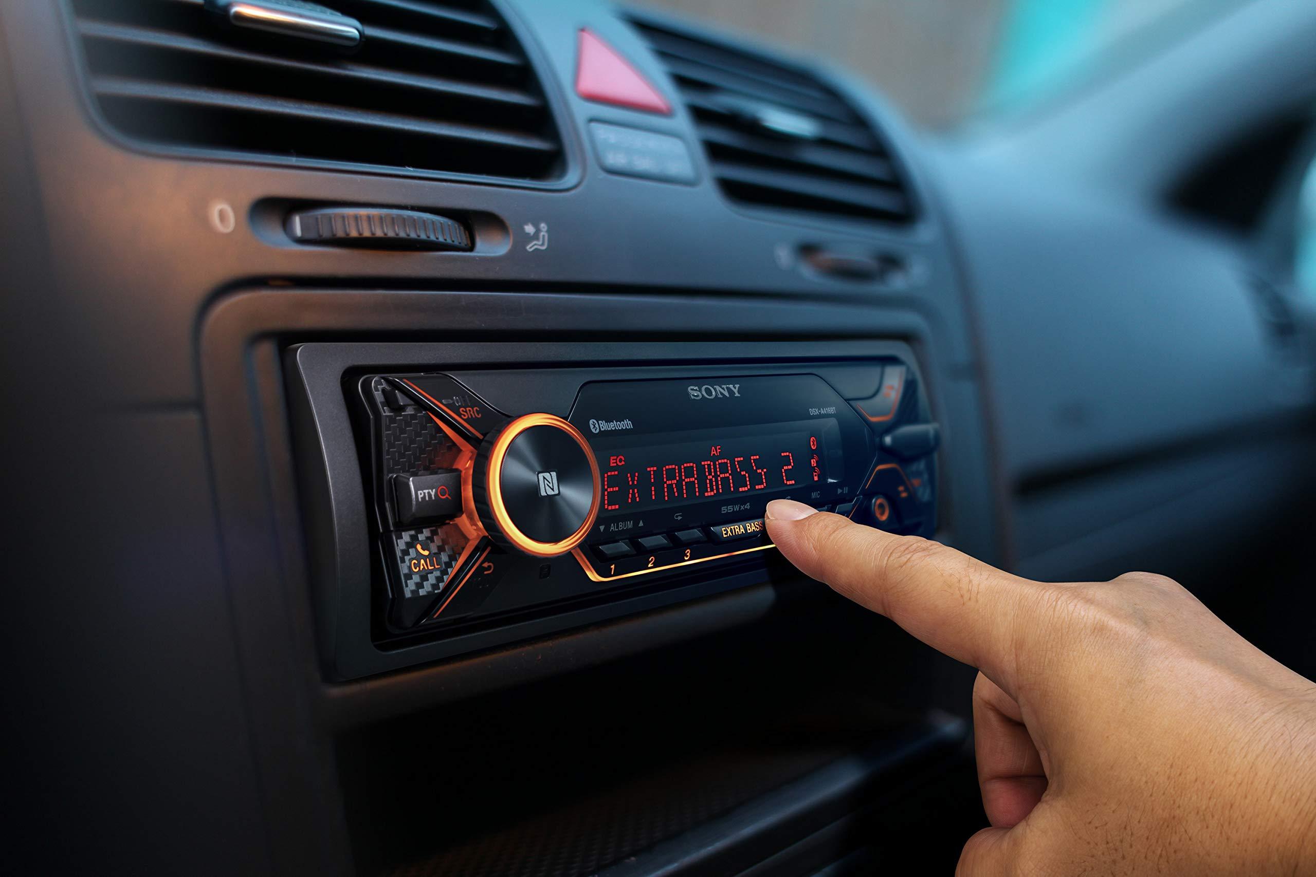 Sony-DSX-A416BT-Autoradio-mit-Dual-Bluetooth-NFC-USB-AUX-Anschluss-35000-Farben-Vario-Color-Freisprechen-und-Mikrofon