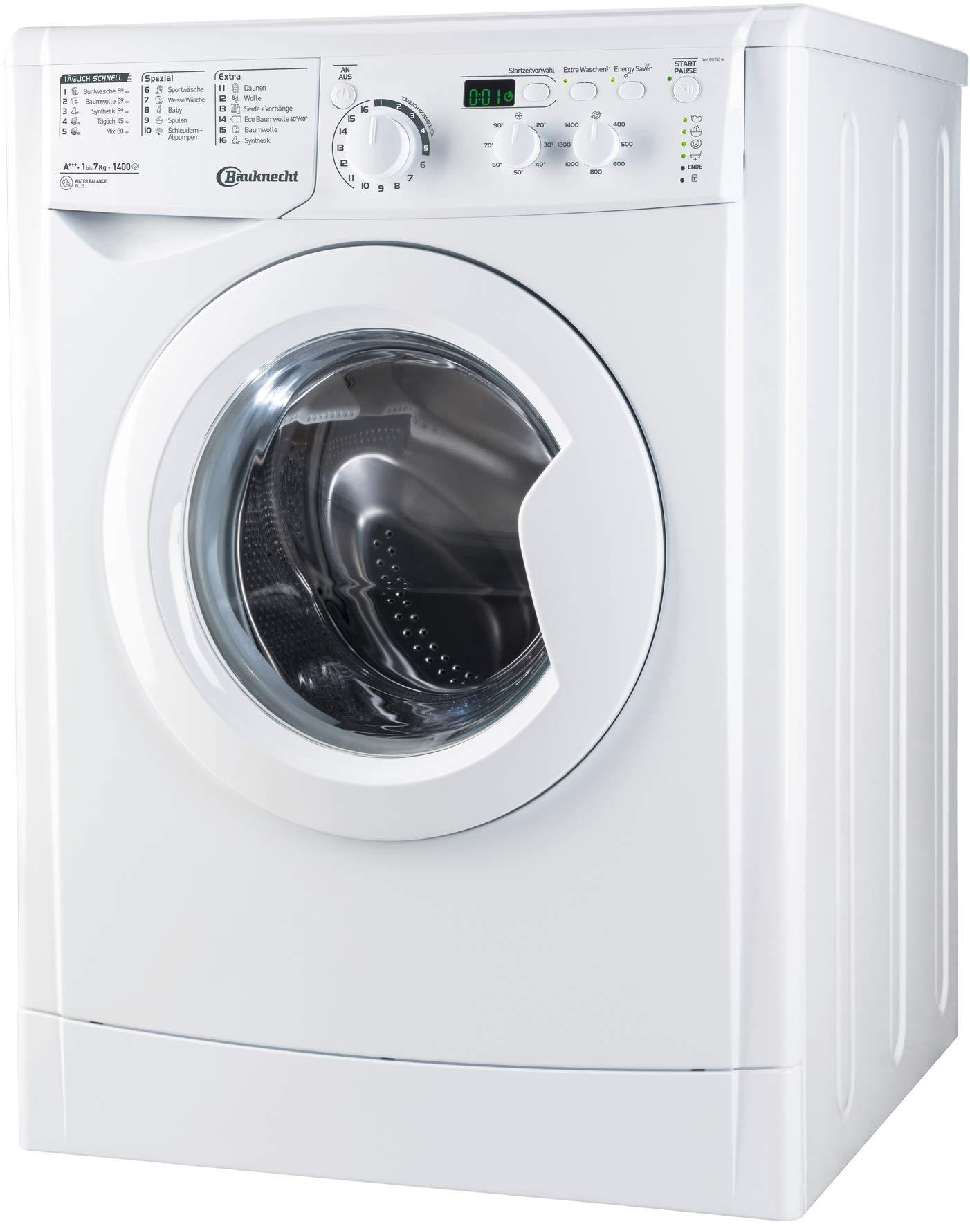Bauknecht-WM-BU-743-IV-Waschmaschine-Frontlader-unterbaufhigA-7-kg-1400-UpMStartzeitvorwahlMengenautomatik